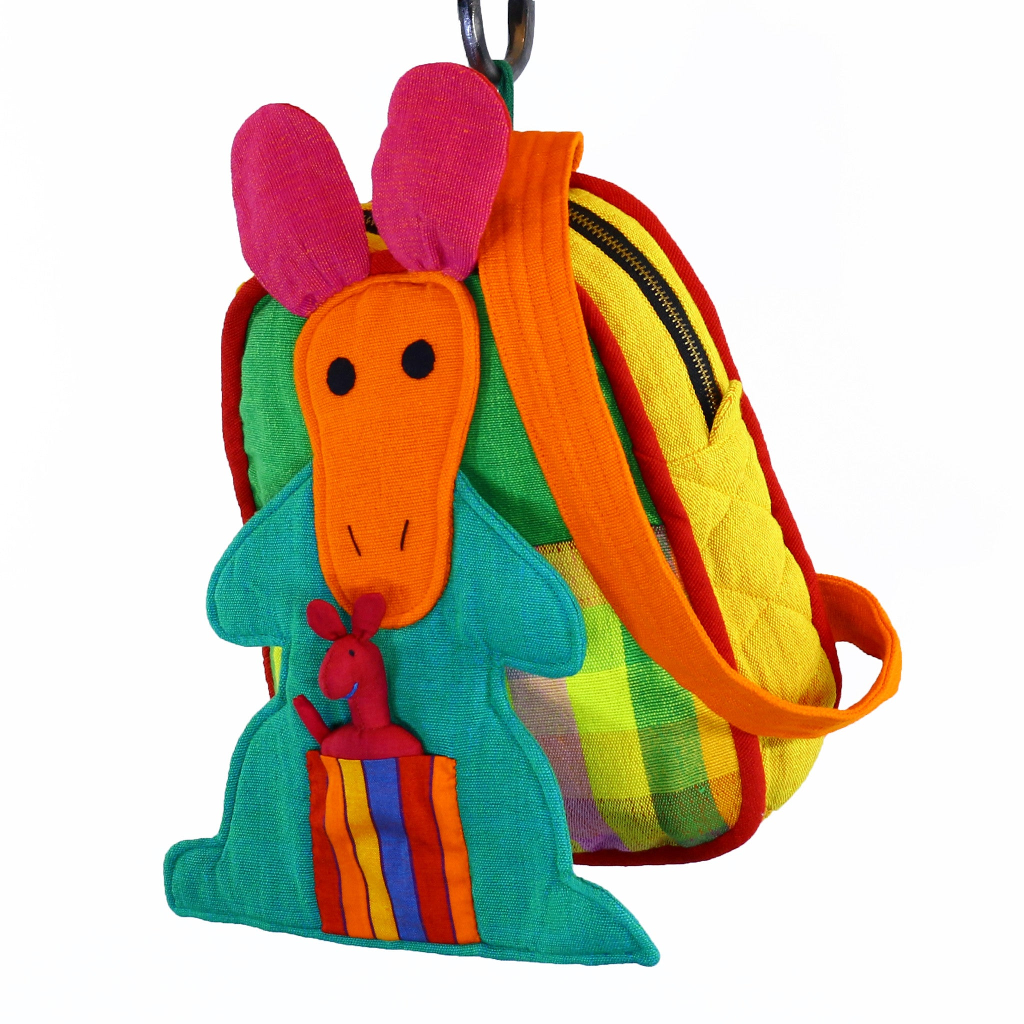 Kangaroo Backpack – Citrus fabric