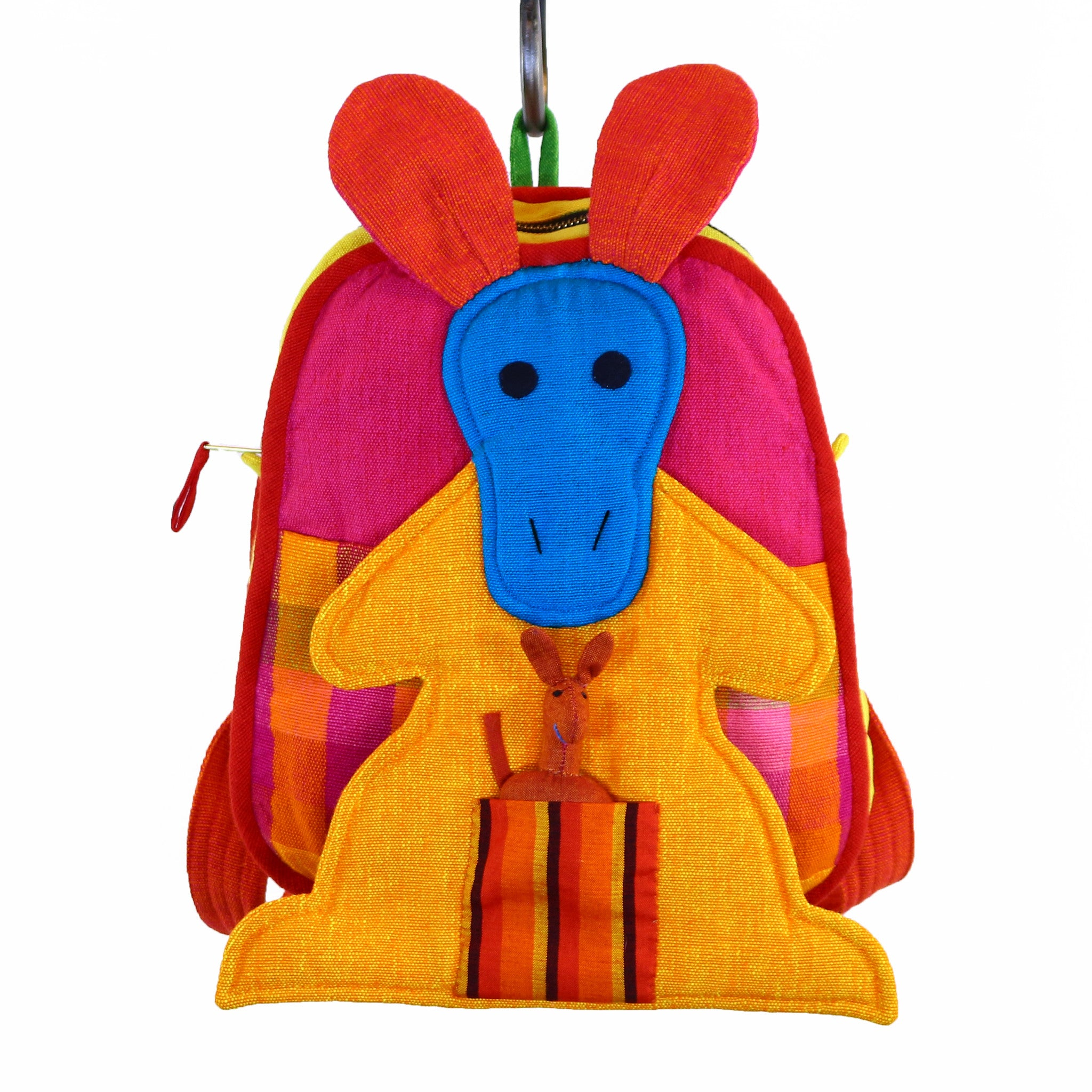 Kangaroo Backpack – Fireworks fabric