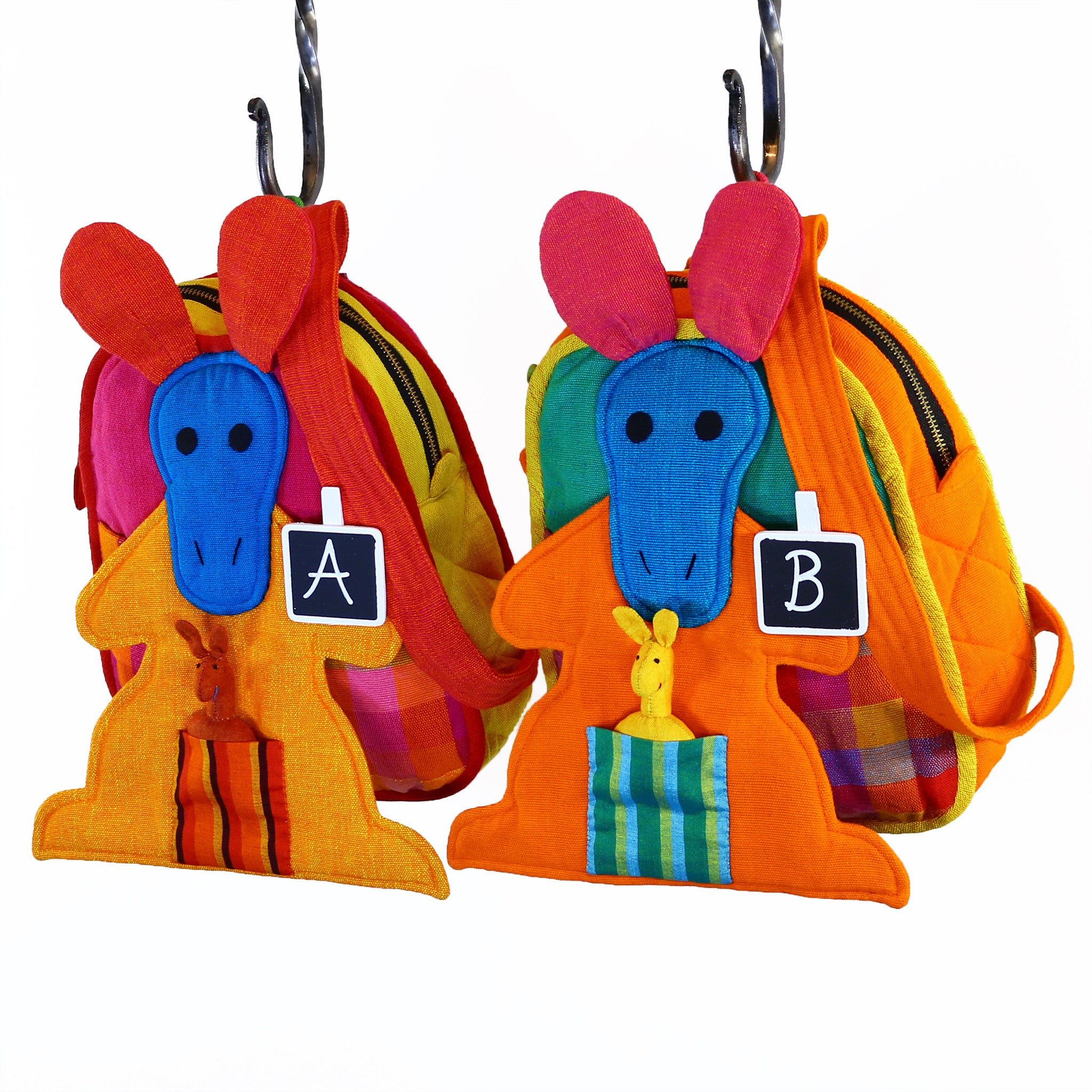 Kangaroo Backpack – Fireworks fabric patterns