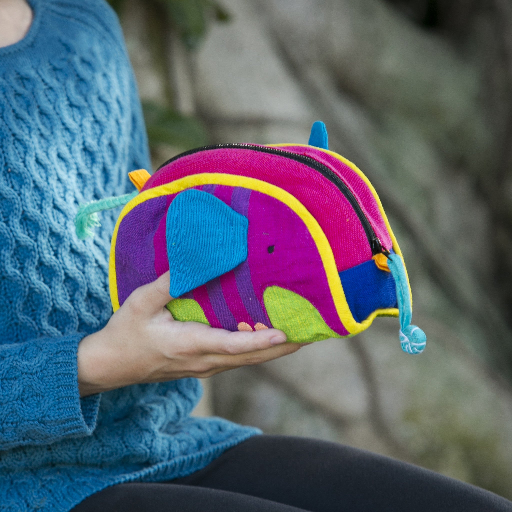Elephant Zip Pouch – handmade, fair trade, and lots of fun!
