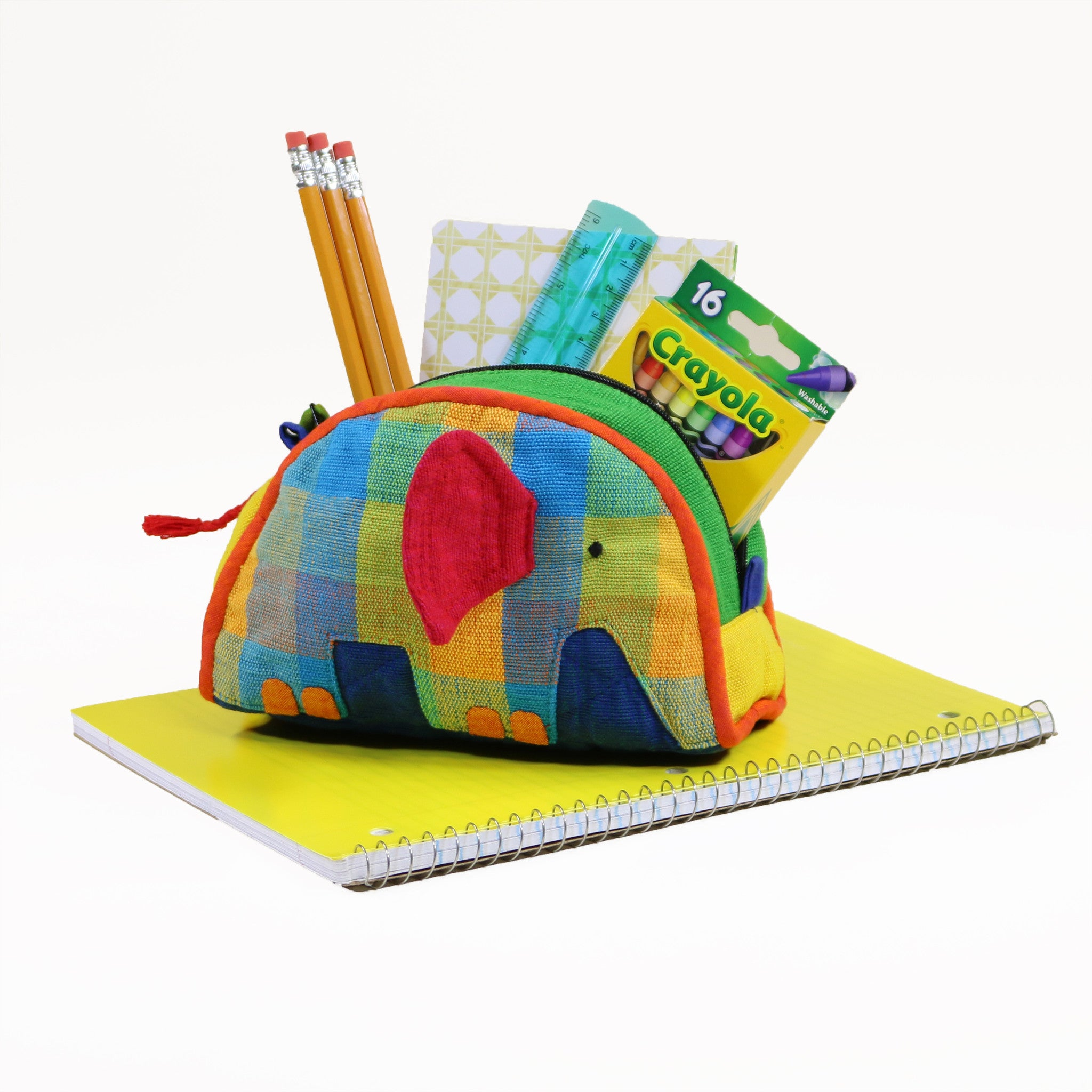 Elephant Zip Pouch – perfect pouch for school supplies!