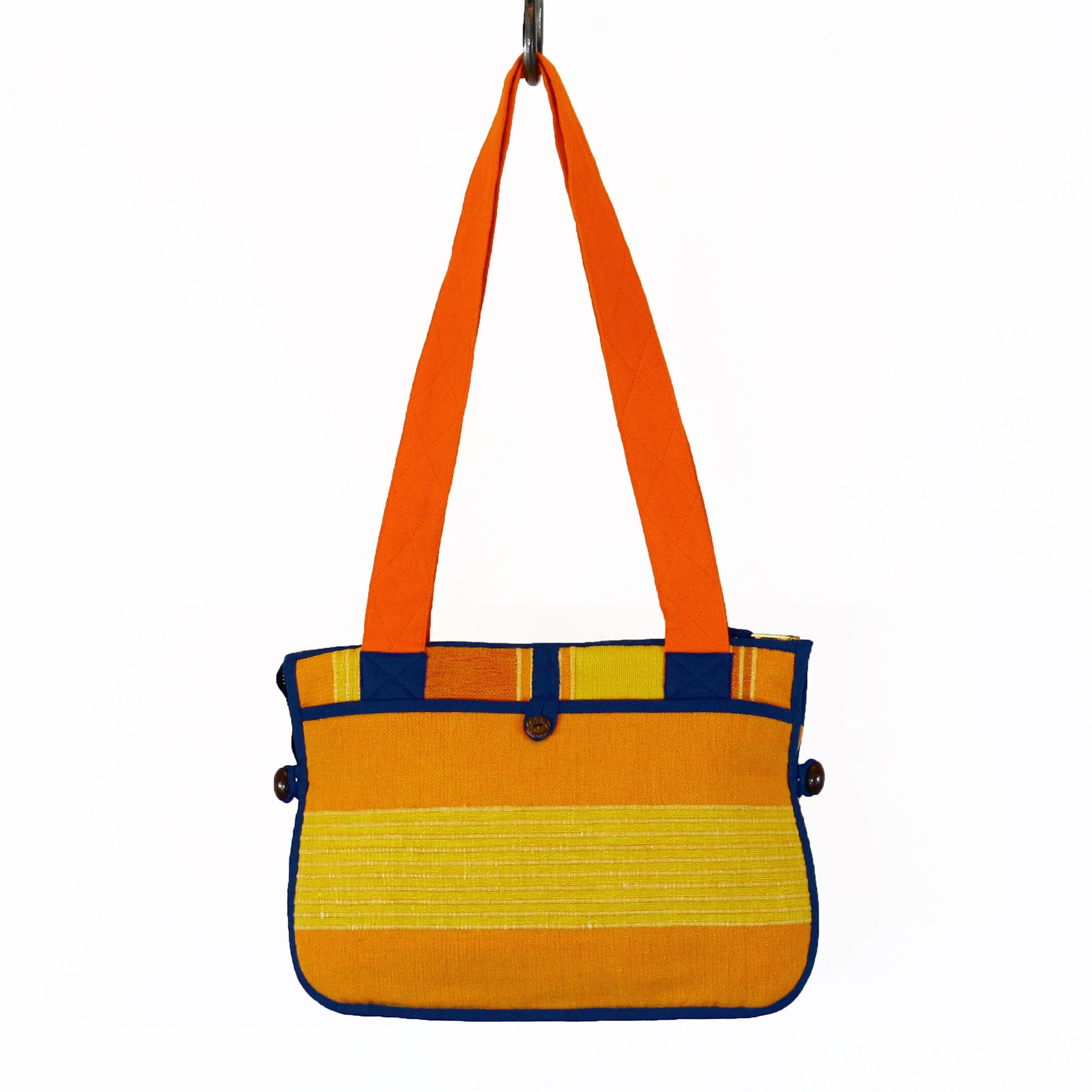 Barefoot Handwoven Expandable Shoulder Bag - Starburst fabric shown