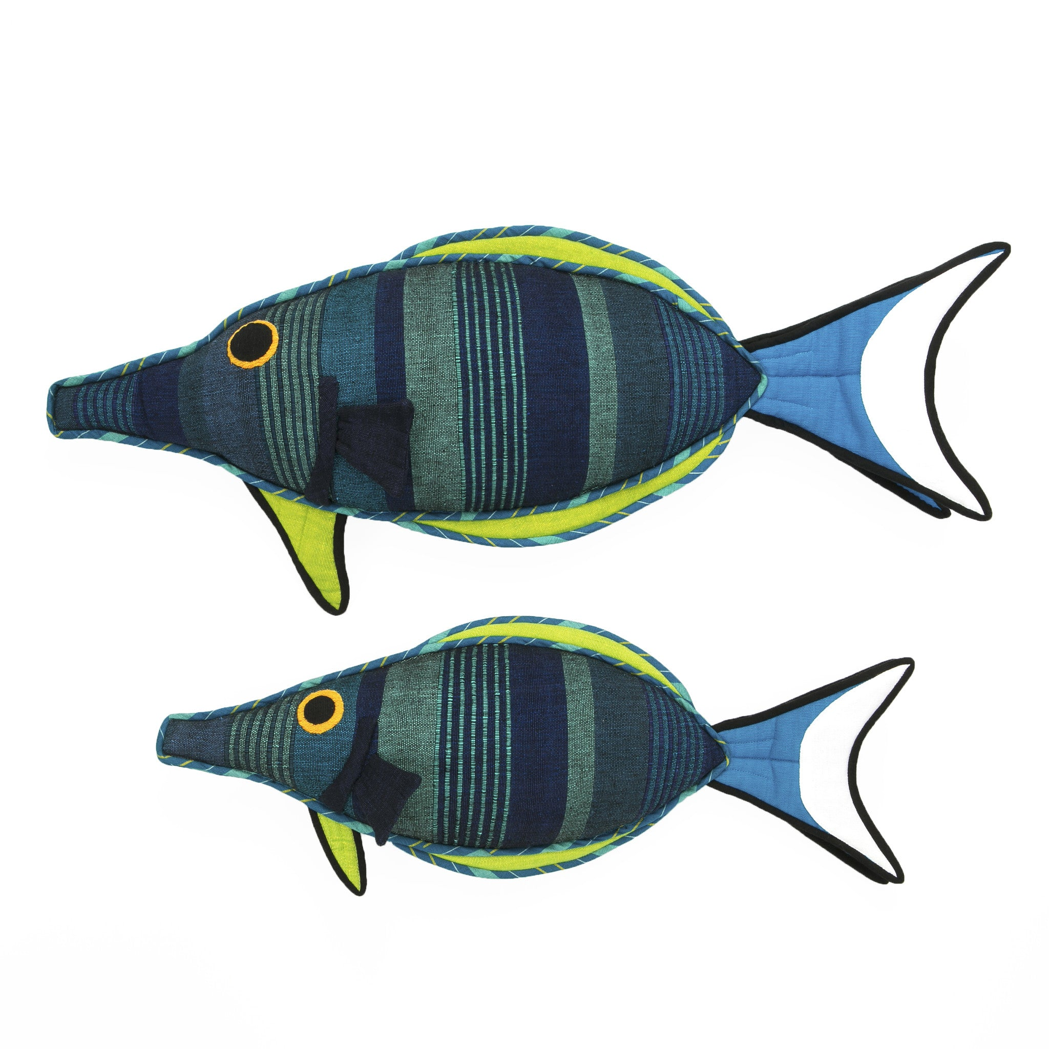 Fish Pillow - Fin, the Bird Wrasse Fish Pillow by Barefoot