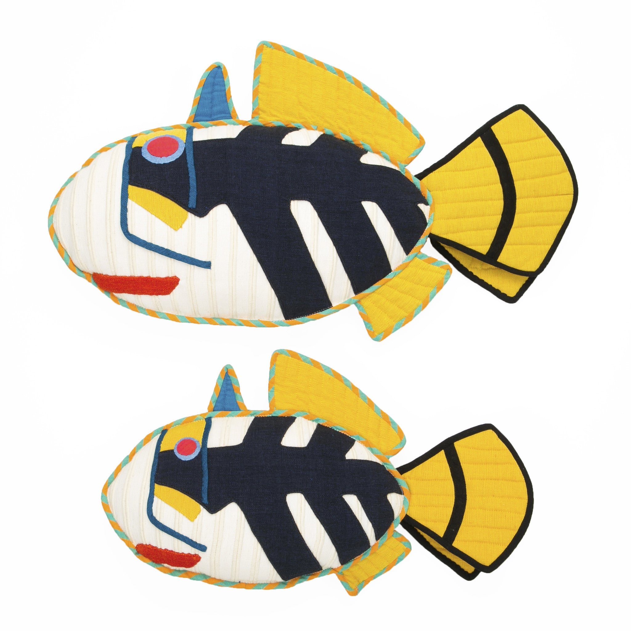 Fish Pillow - Pepper, the Picasso Trigger Fish Pillow by Barefoot