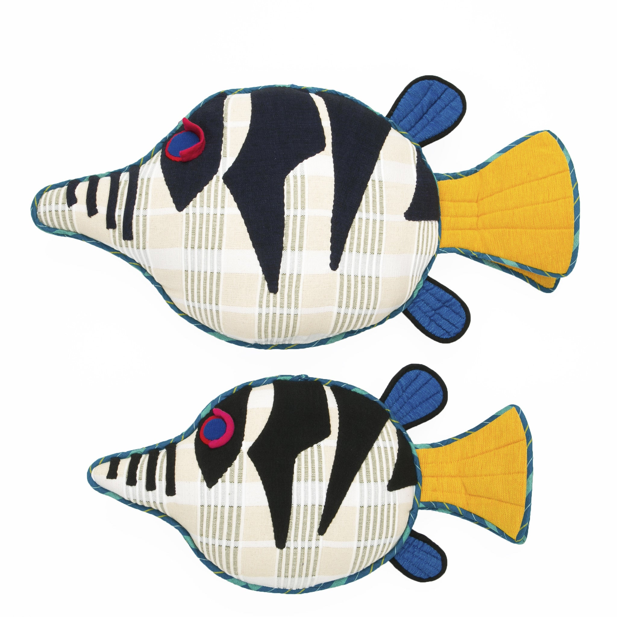 Fish Pillow - Flash, the Sharpnosed Puffer Fish Pillow by Barefoot