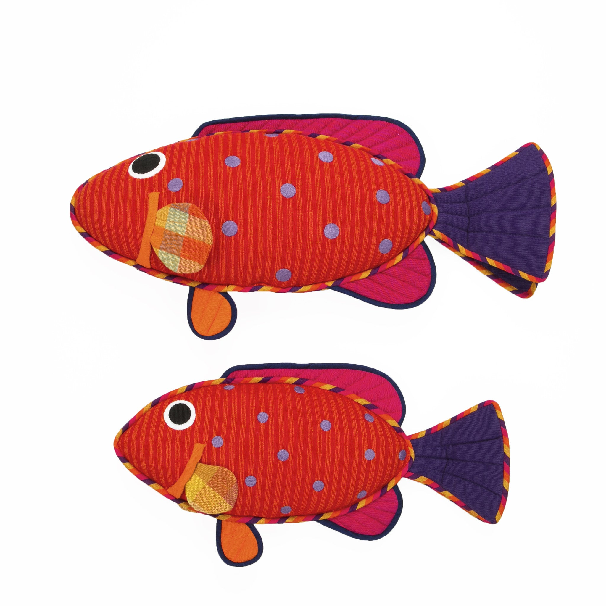 Fish Pillow - Emma, the Vermillion Rock Cod Fish Pillow by Barefoot