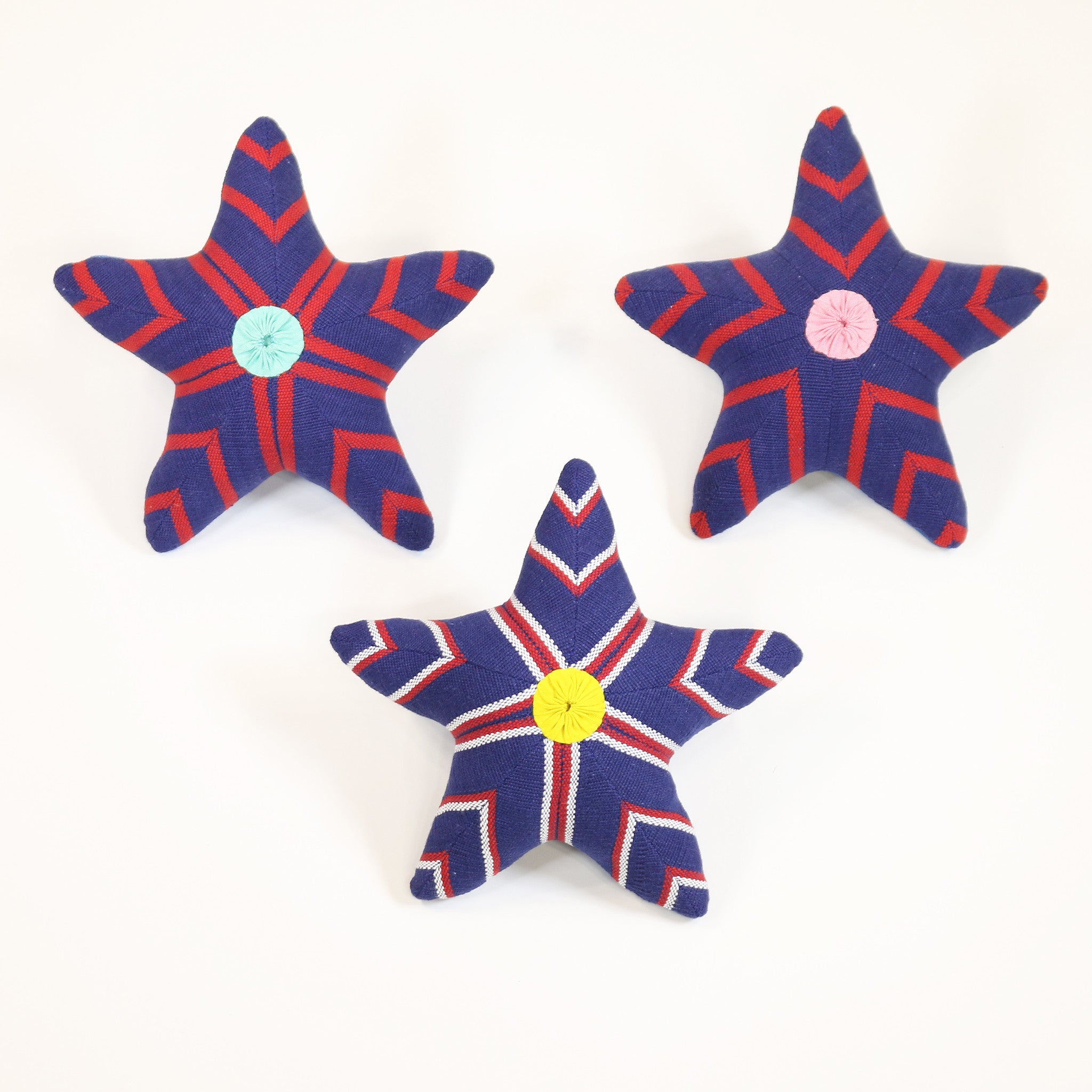 Skip, the Starfish – all patterns (front view)