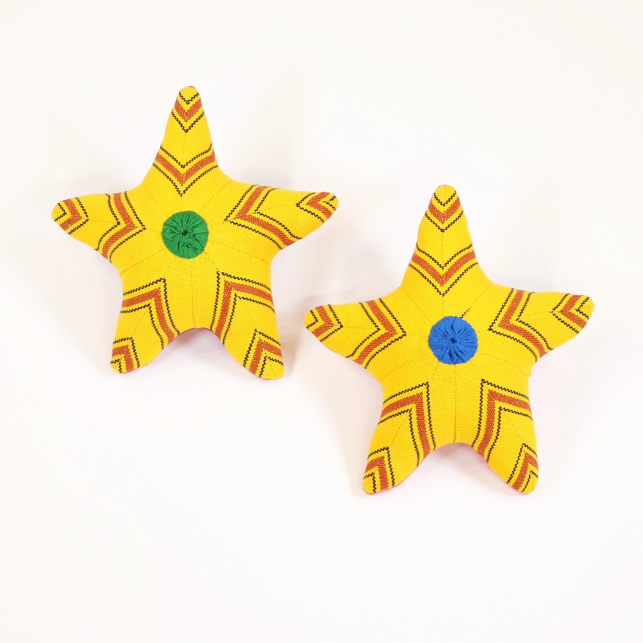 Sunny, the Starfish – all patterns (front view)