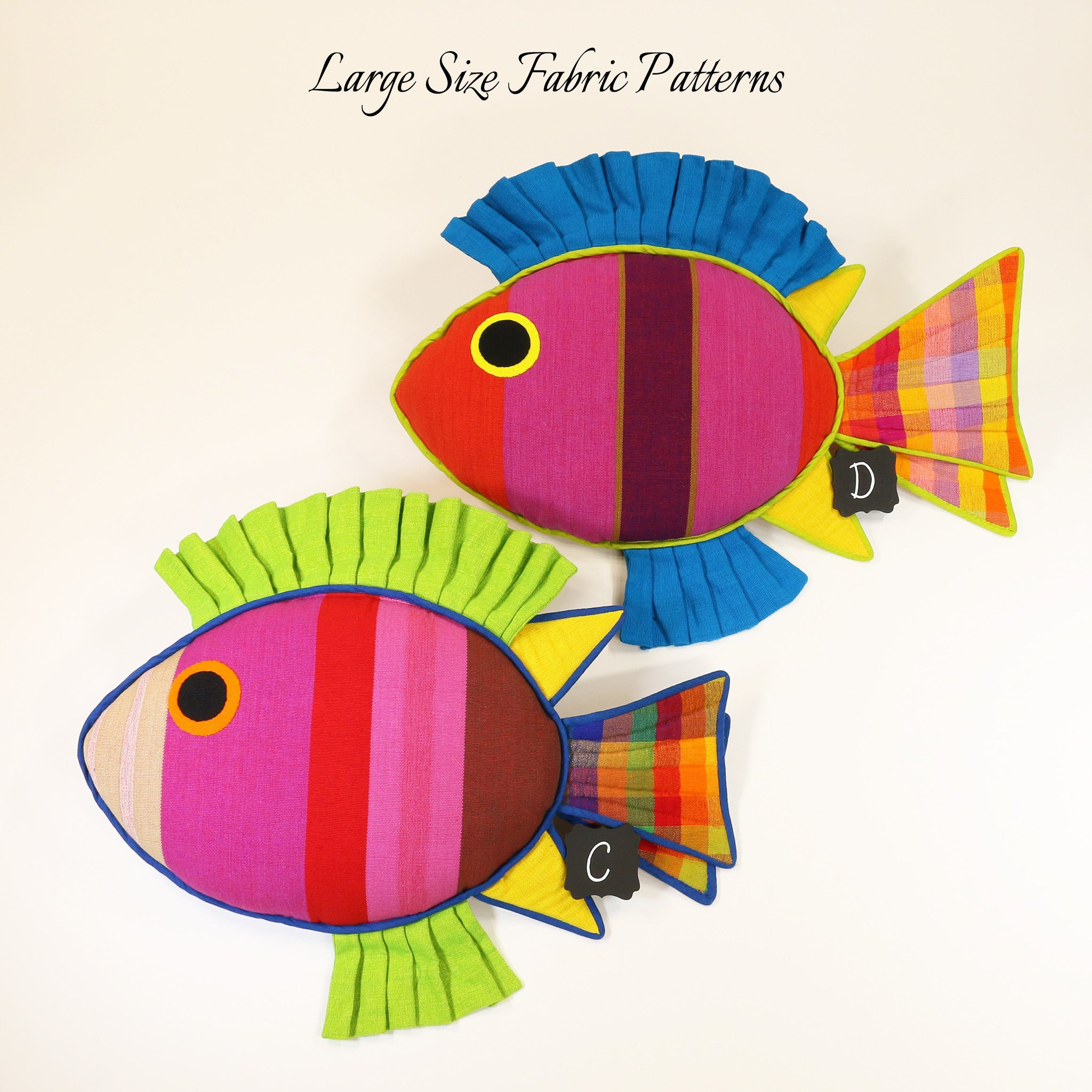 Mindy, the Rabbit Fish – large size fabric patterns shown