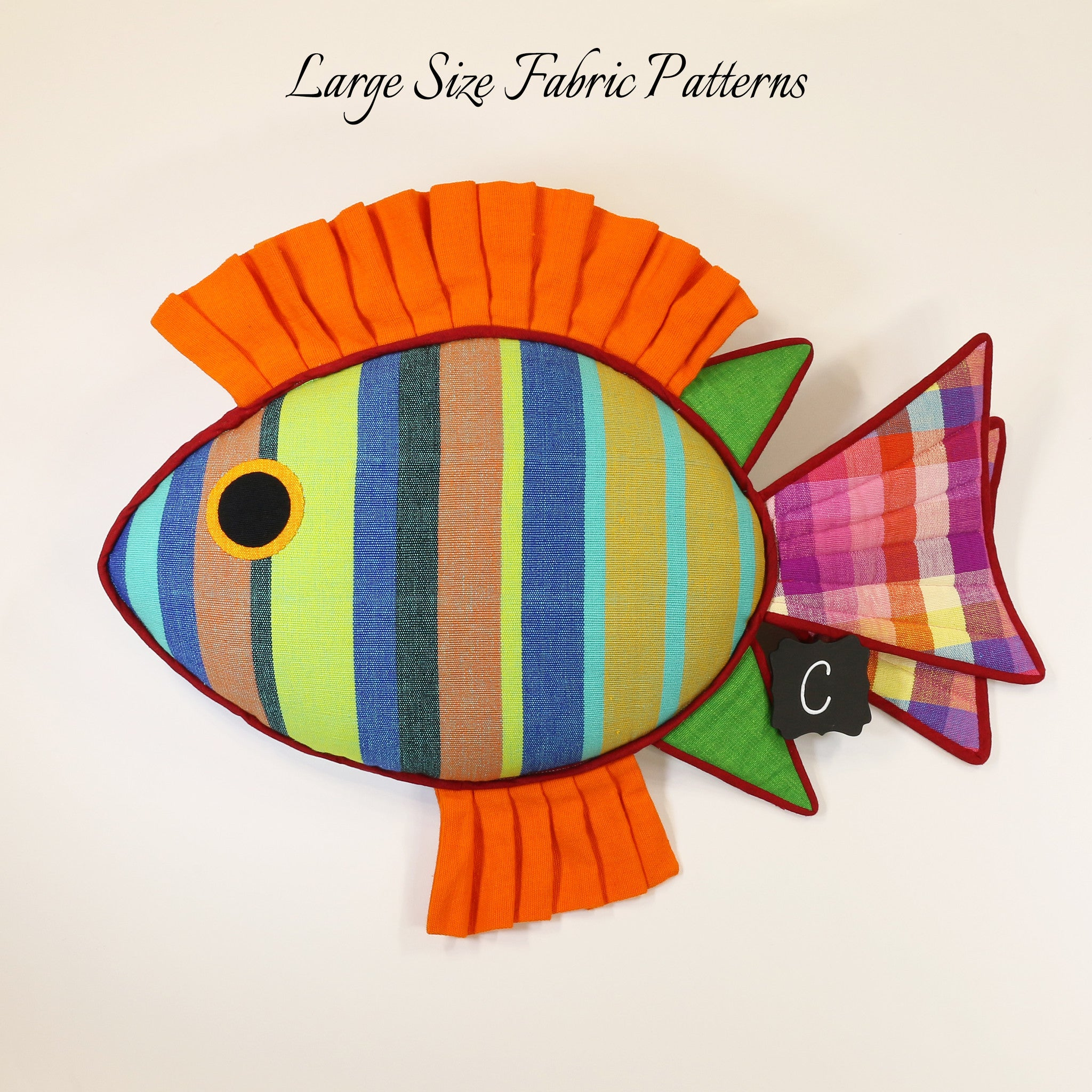 Reagan, the Rabbit Fish – large size fabric patterns shown