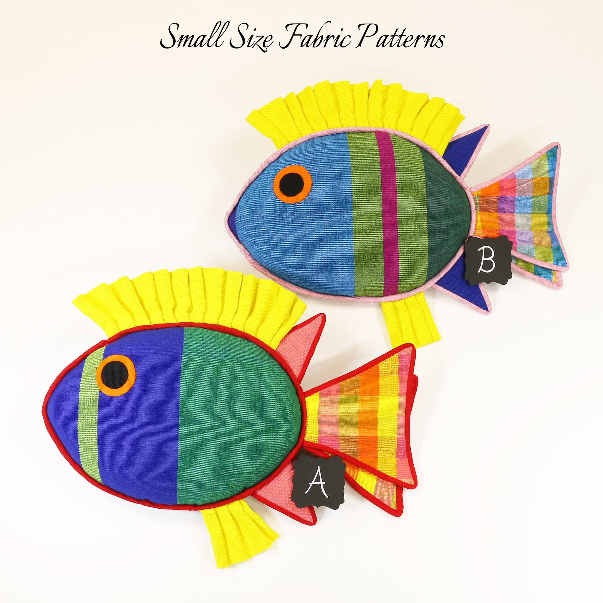 Levi, the Rabbit Fish – small size fabric patterns shown