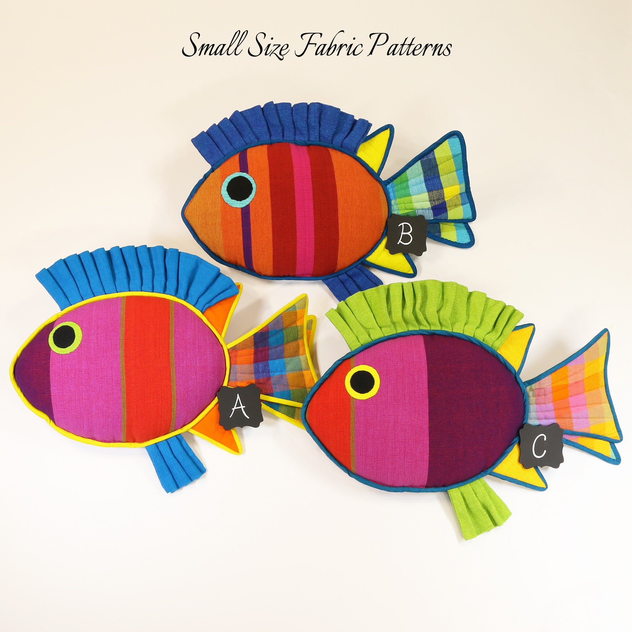 Mindy, the Rabbit Fish – small size fabric patterns shown