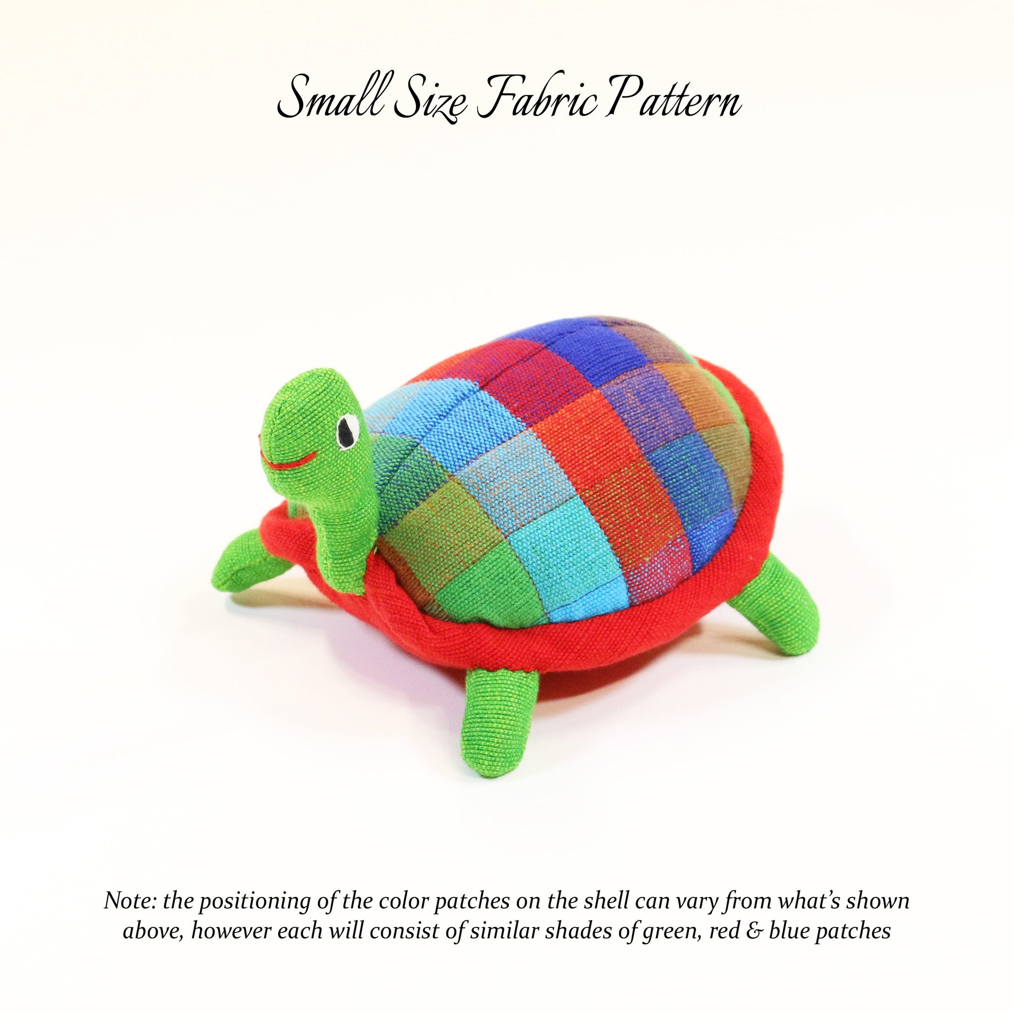 Terry, the Turtle – small size fabric pattern shown