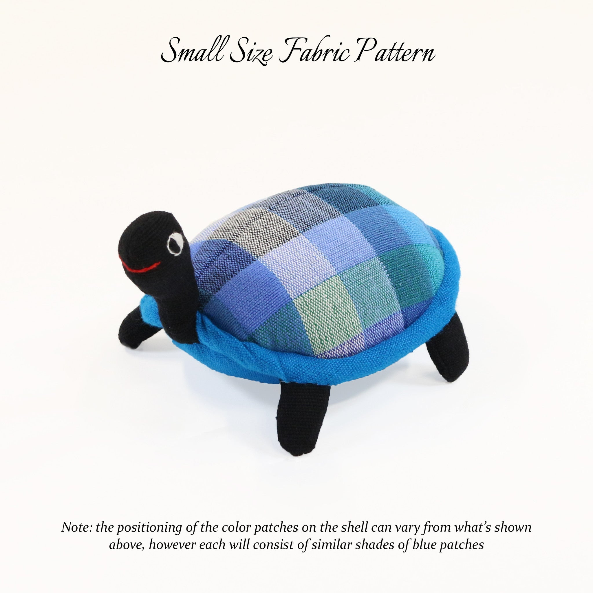 Tommy, the Turtle – small size fabric pattern shown