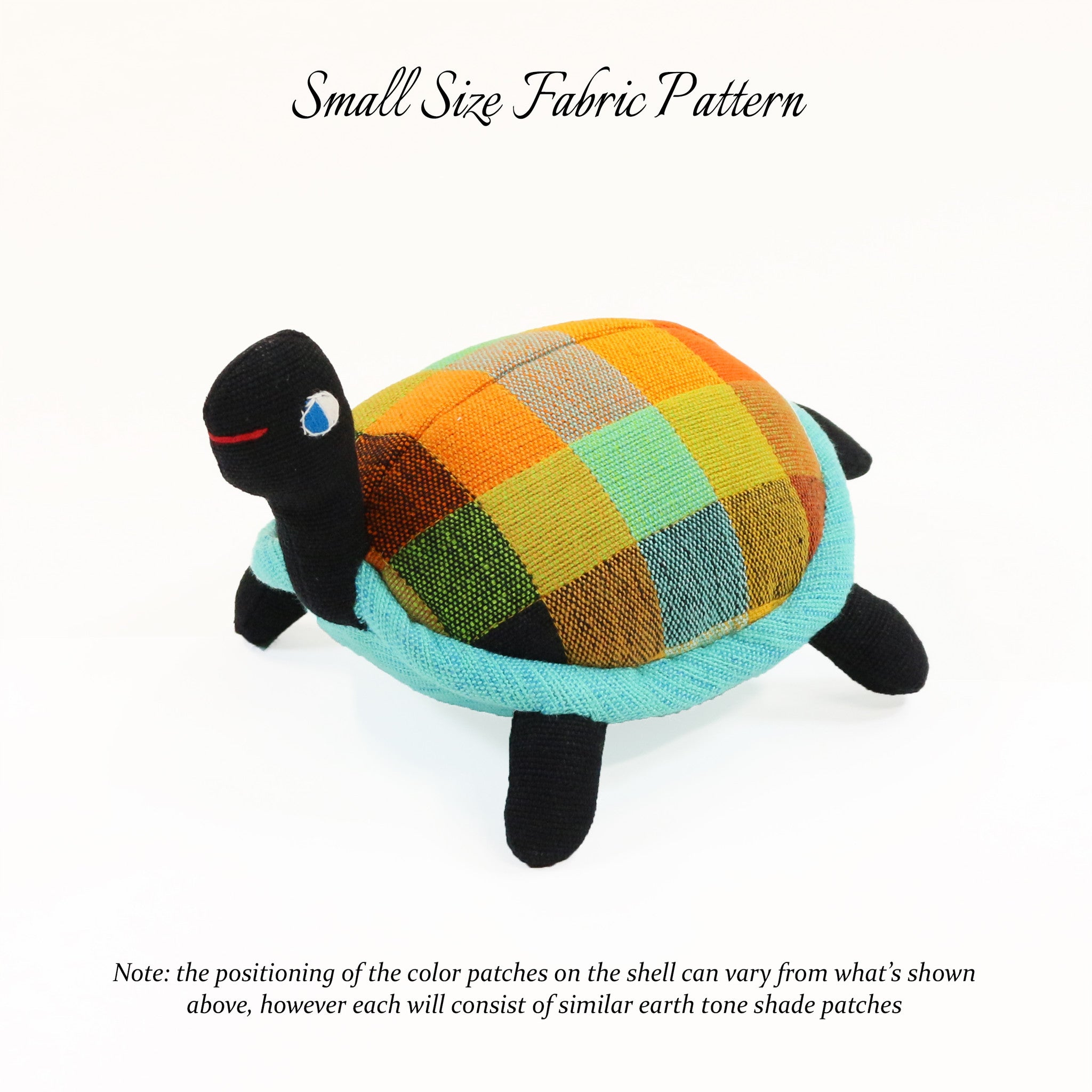 Toby, the Turtle – small size fabric pattern shown