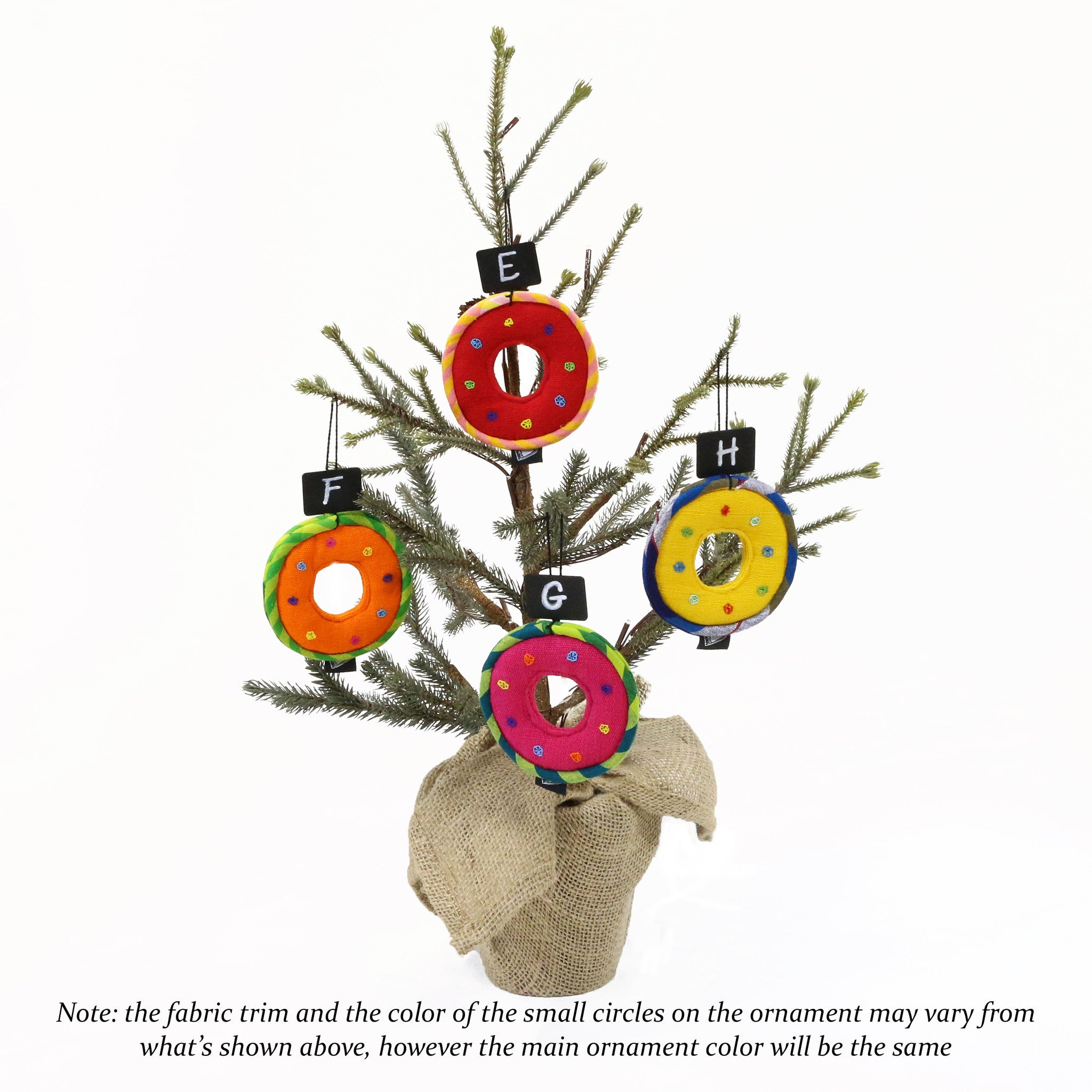 Handwoven, Wreath Shaped Ornaments (various colors)