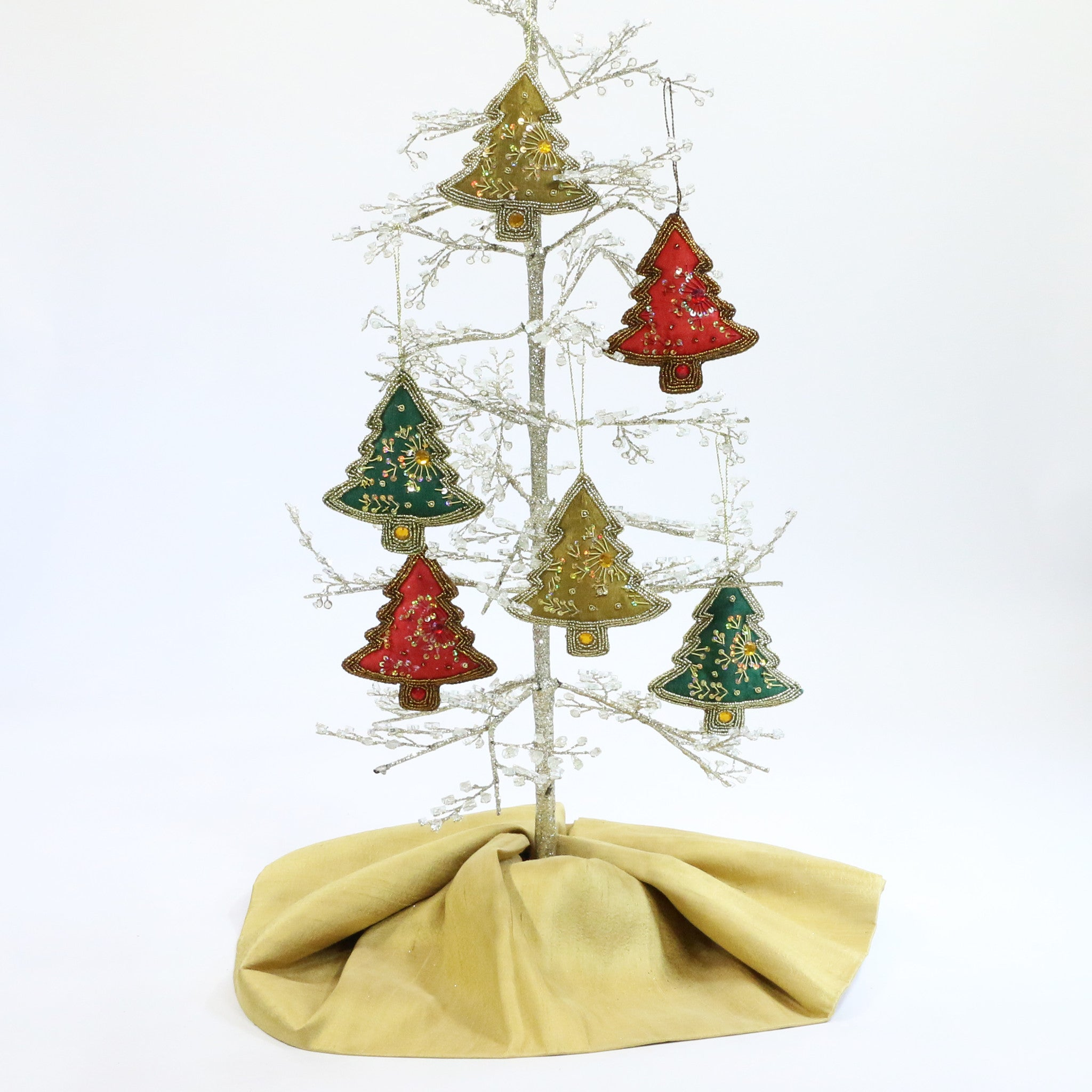 Hand Beaded Christmas Ornament from India - Tree - Lionheart Imports