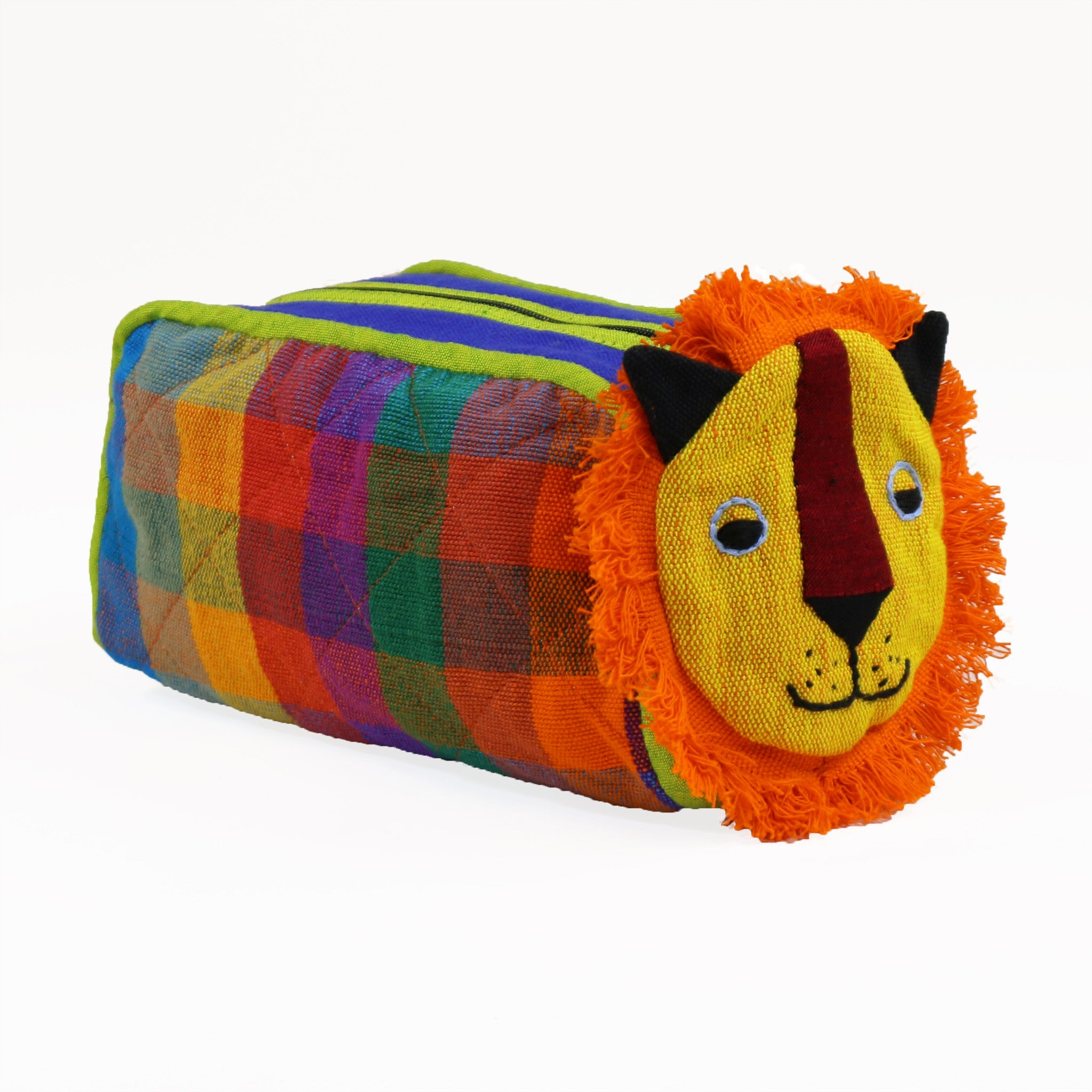 Lion Zip Pouch - Carousel fabric