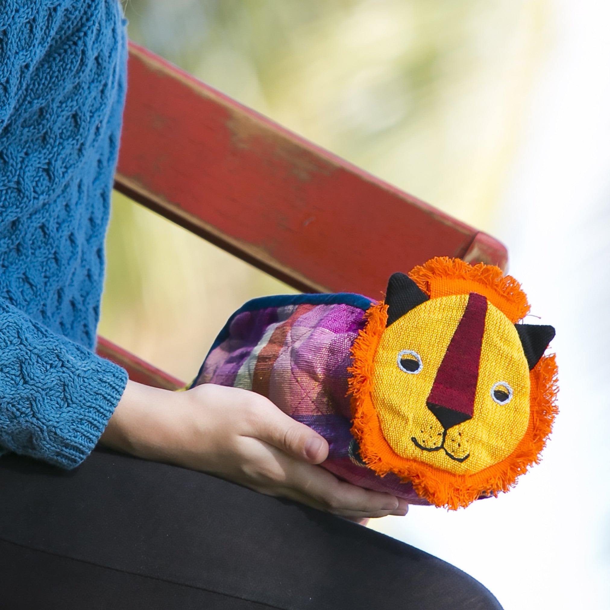 Lion Zip Pouch – handmade, fair trade, and lots of fun!