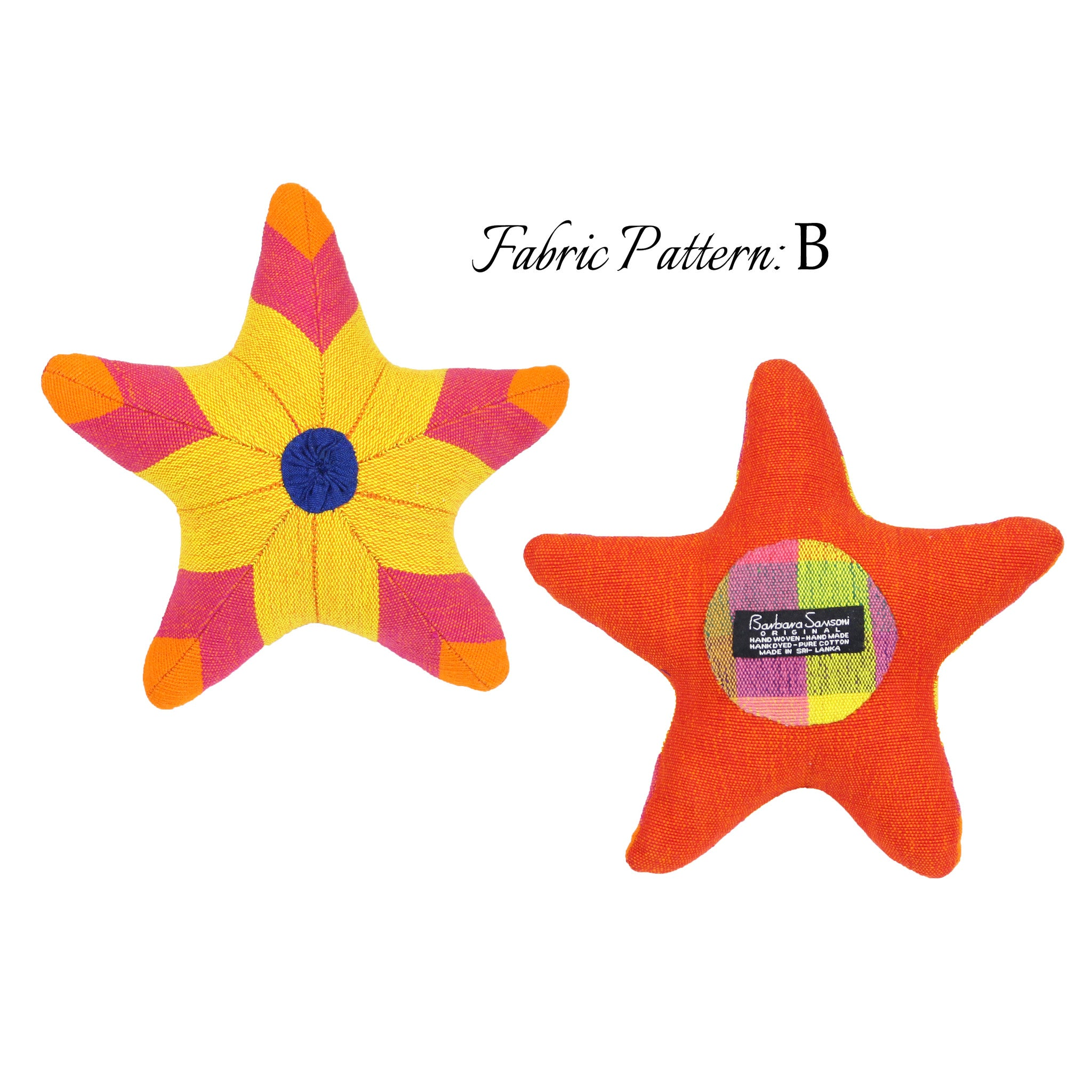 Sarah, the Starfish - pattern B (front & back view)