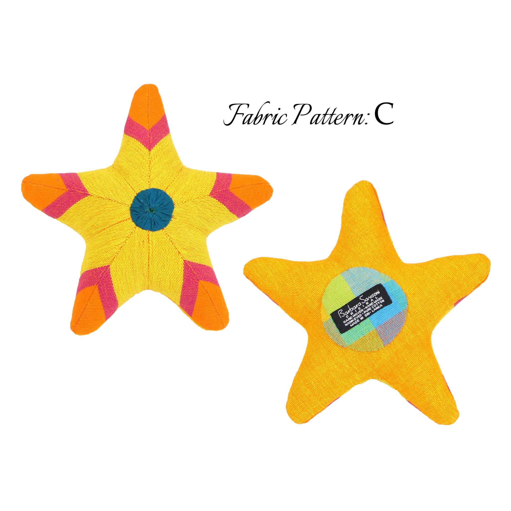 Sarah, the Starfish - pattern C (front & back view)