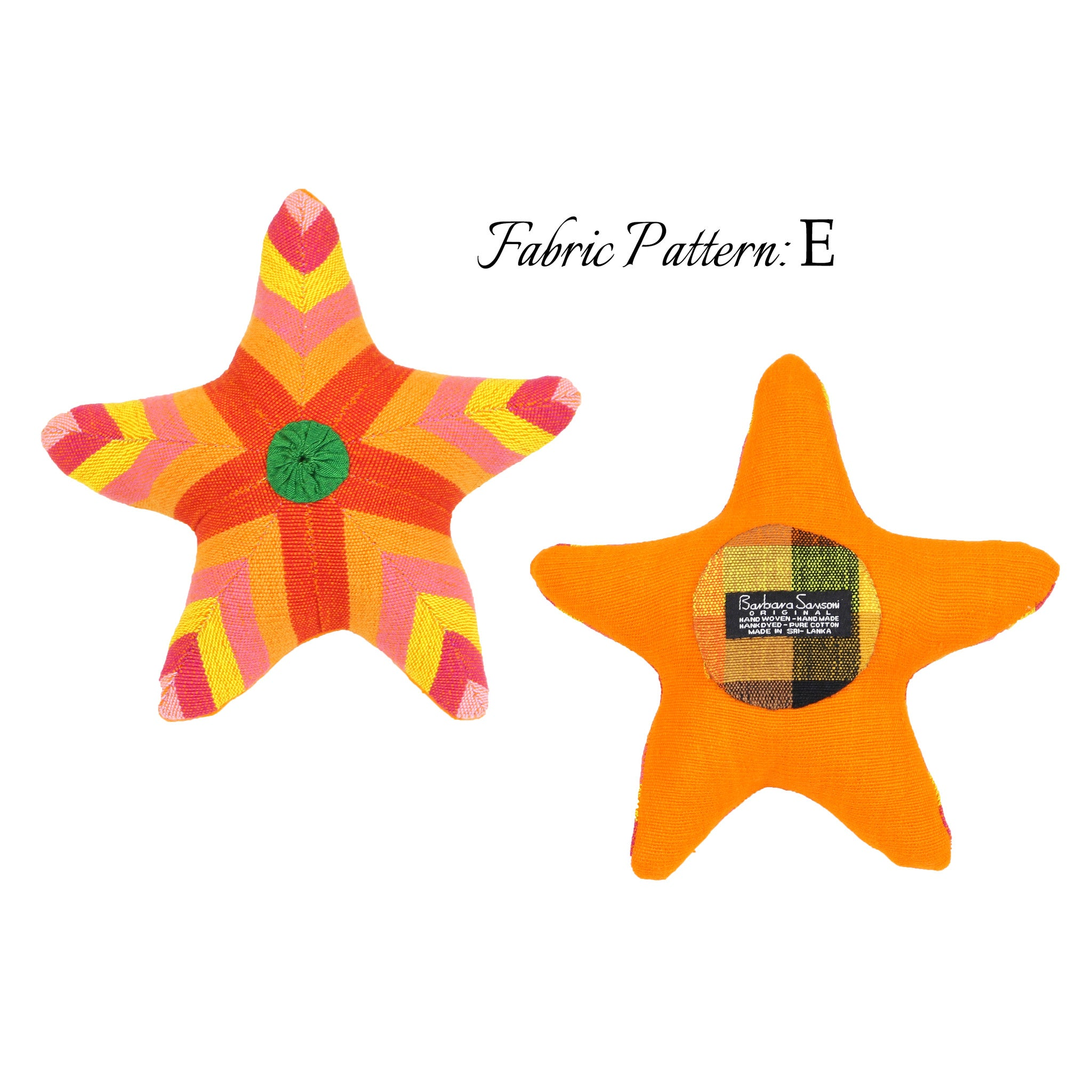 Sarah, the Starfish - pattern E (front & back view)