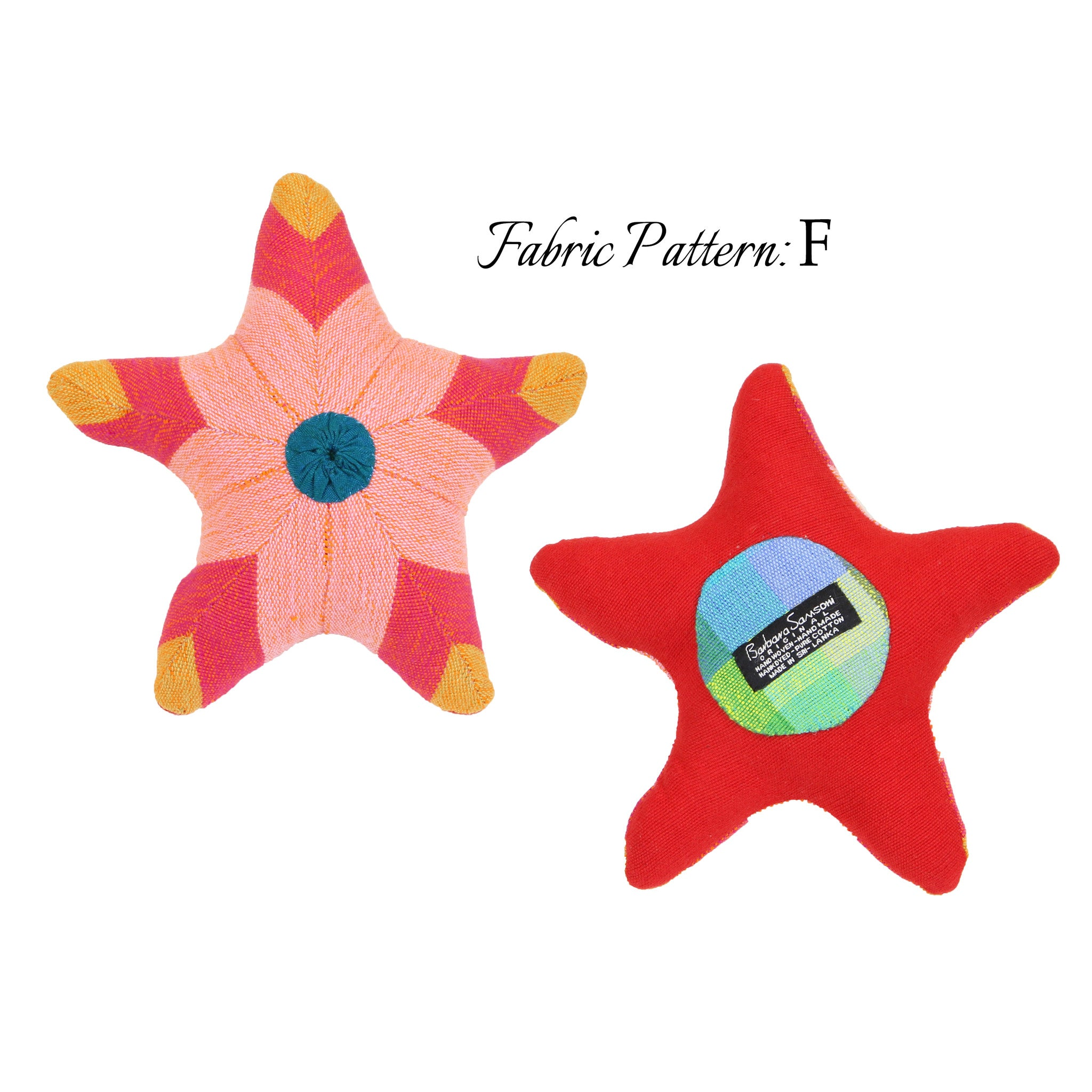 Sarah, the Starfish - pattern F (front & back view)