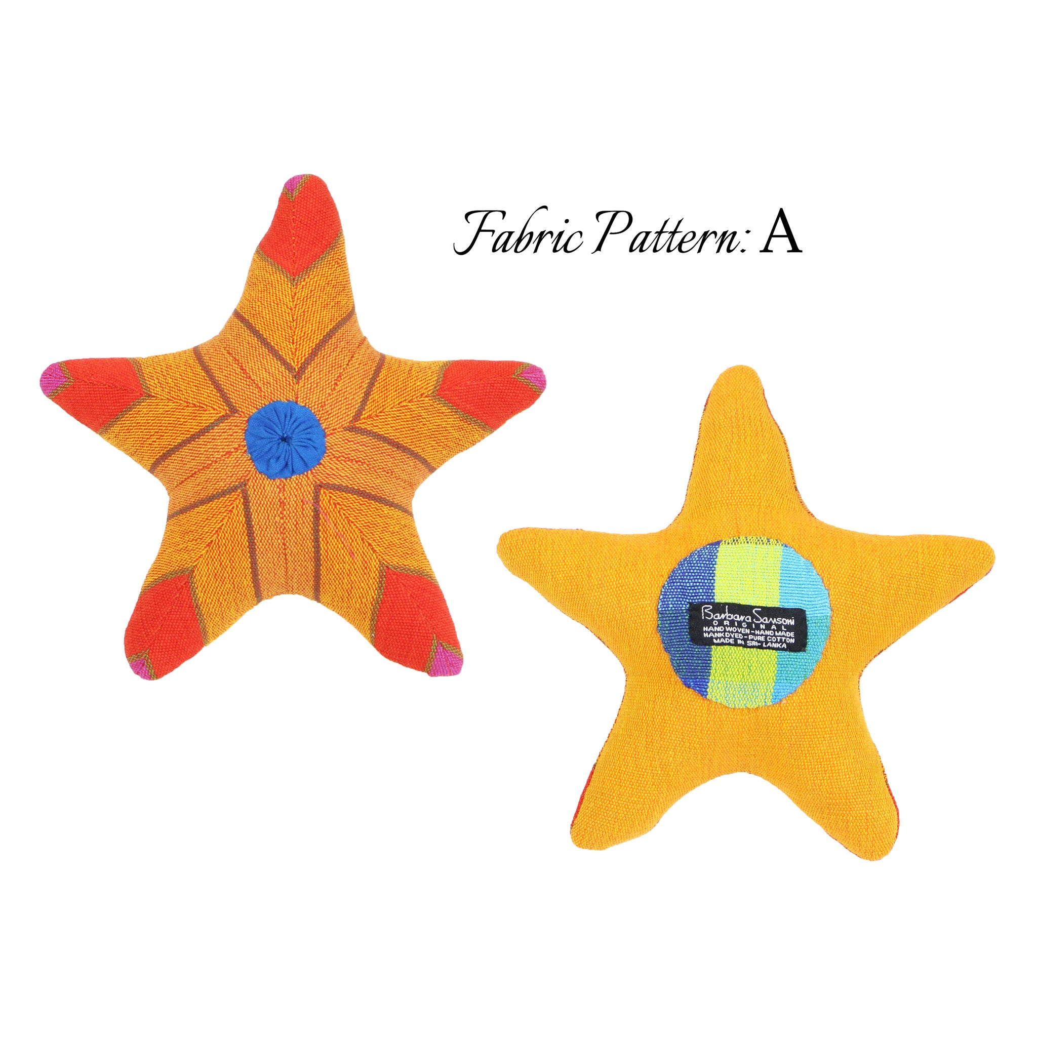 Sasha, the Starfish – pattern A (front & back view)