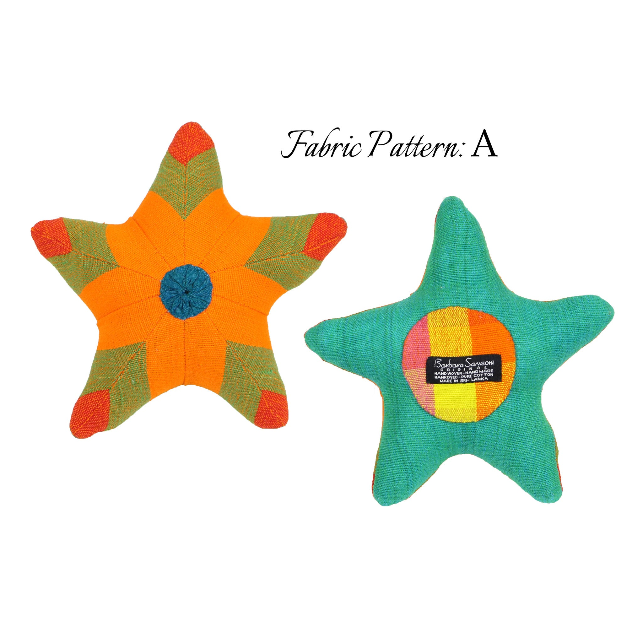 Scully, the Starfish – pattern A (front & back view)