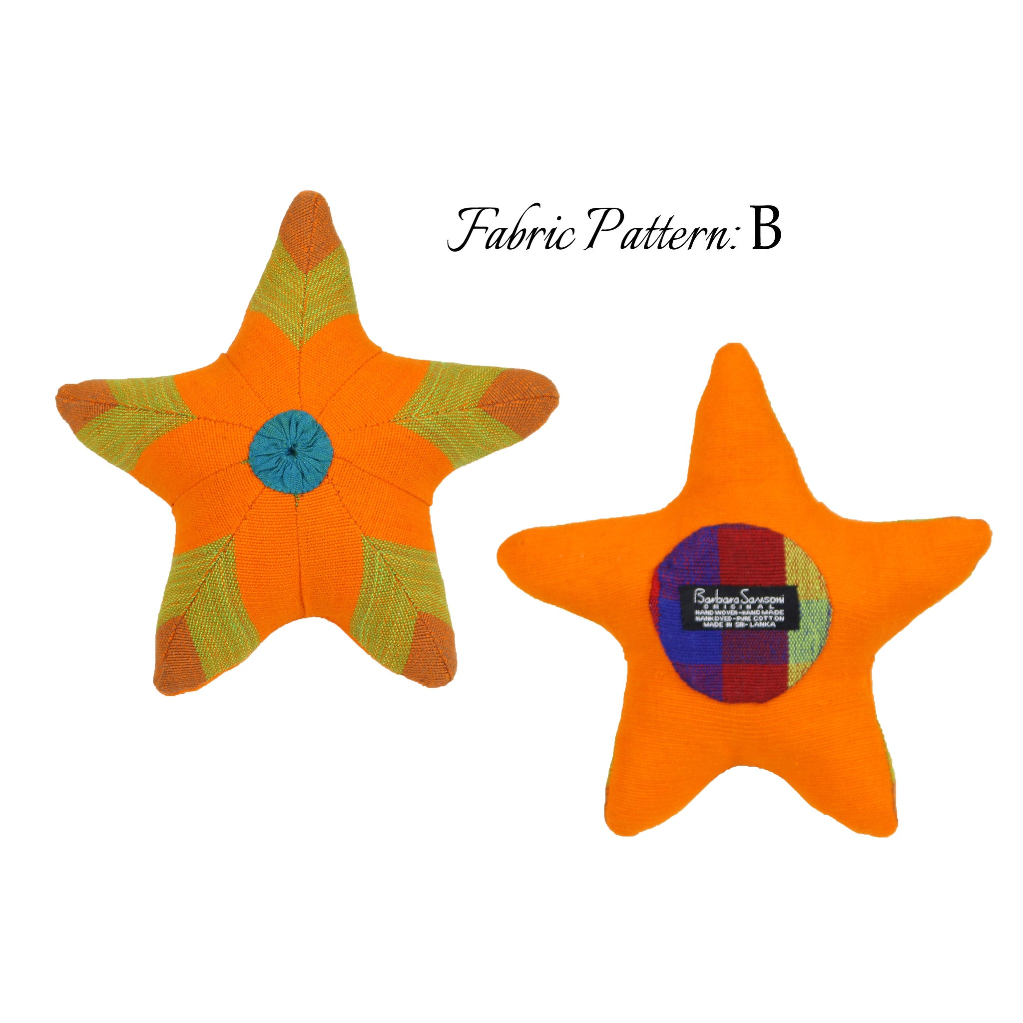 Scully, the Starfish – pattern B (front & back view)