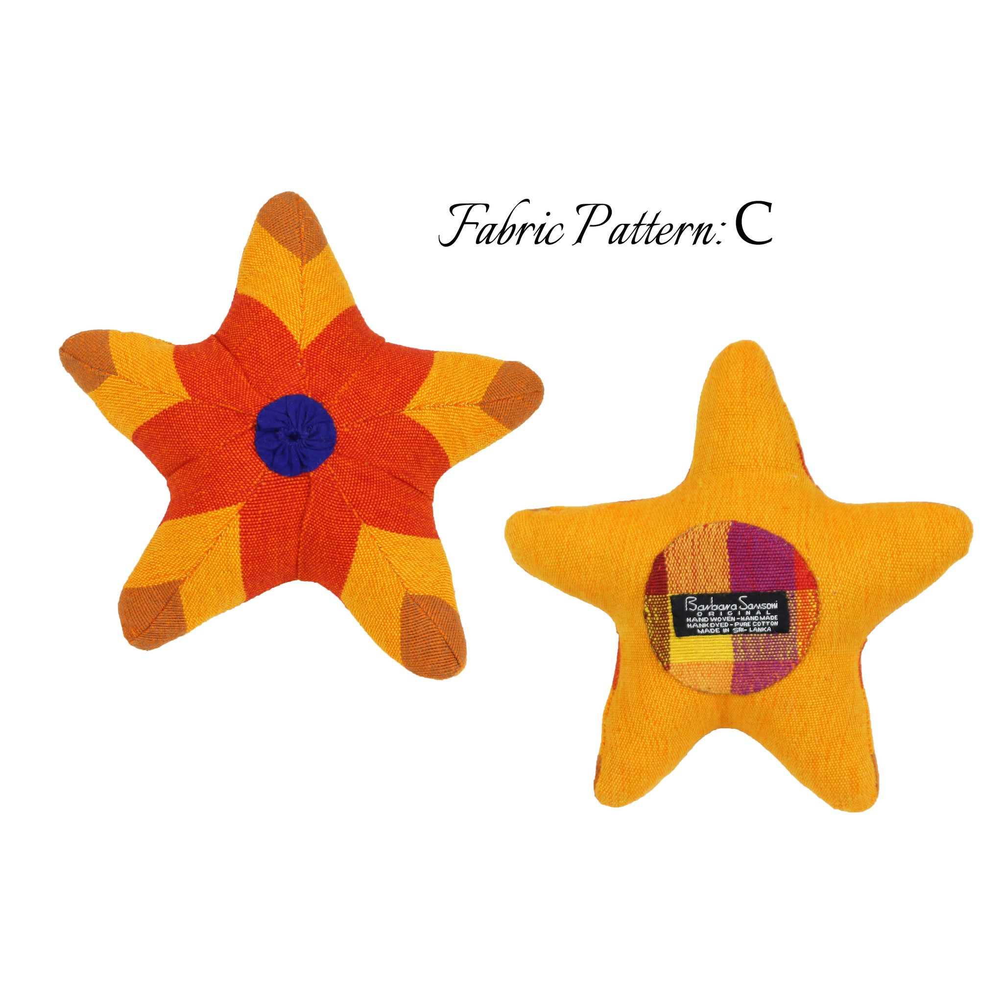 Scully, the Starfish – pattern C (front & back view)