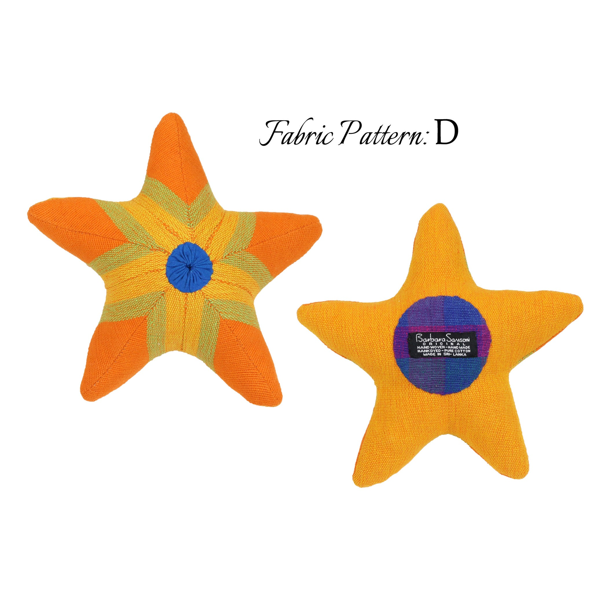 Scully, the Starfish – pattern D (front & back view)