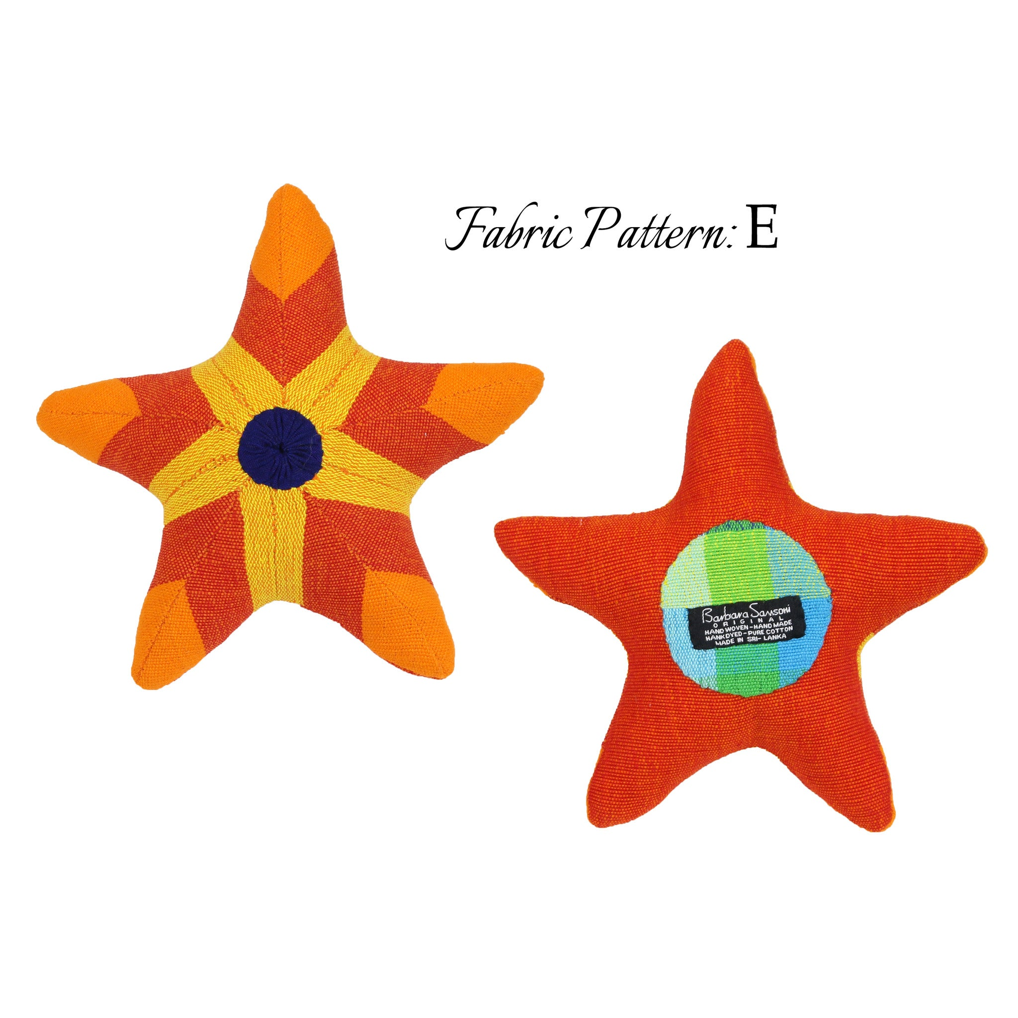 Scully, the Starfish – pattern E (front & back view)