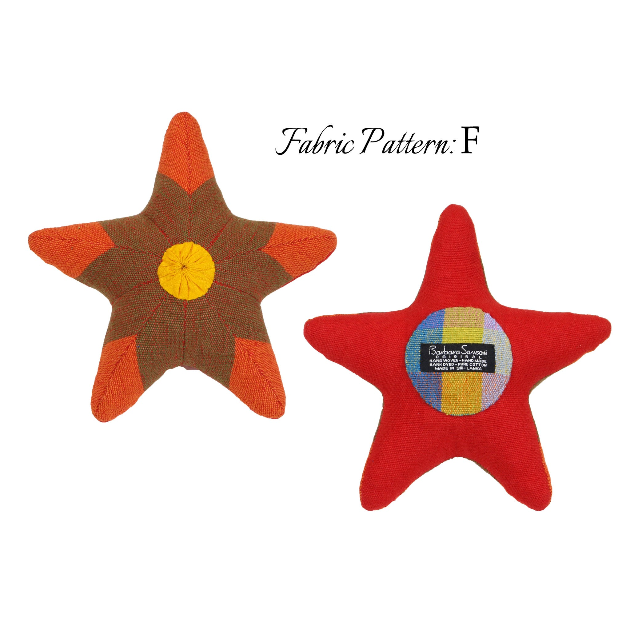 Scully, the Starfish – pattern F (front & back view)