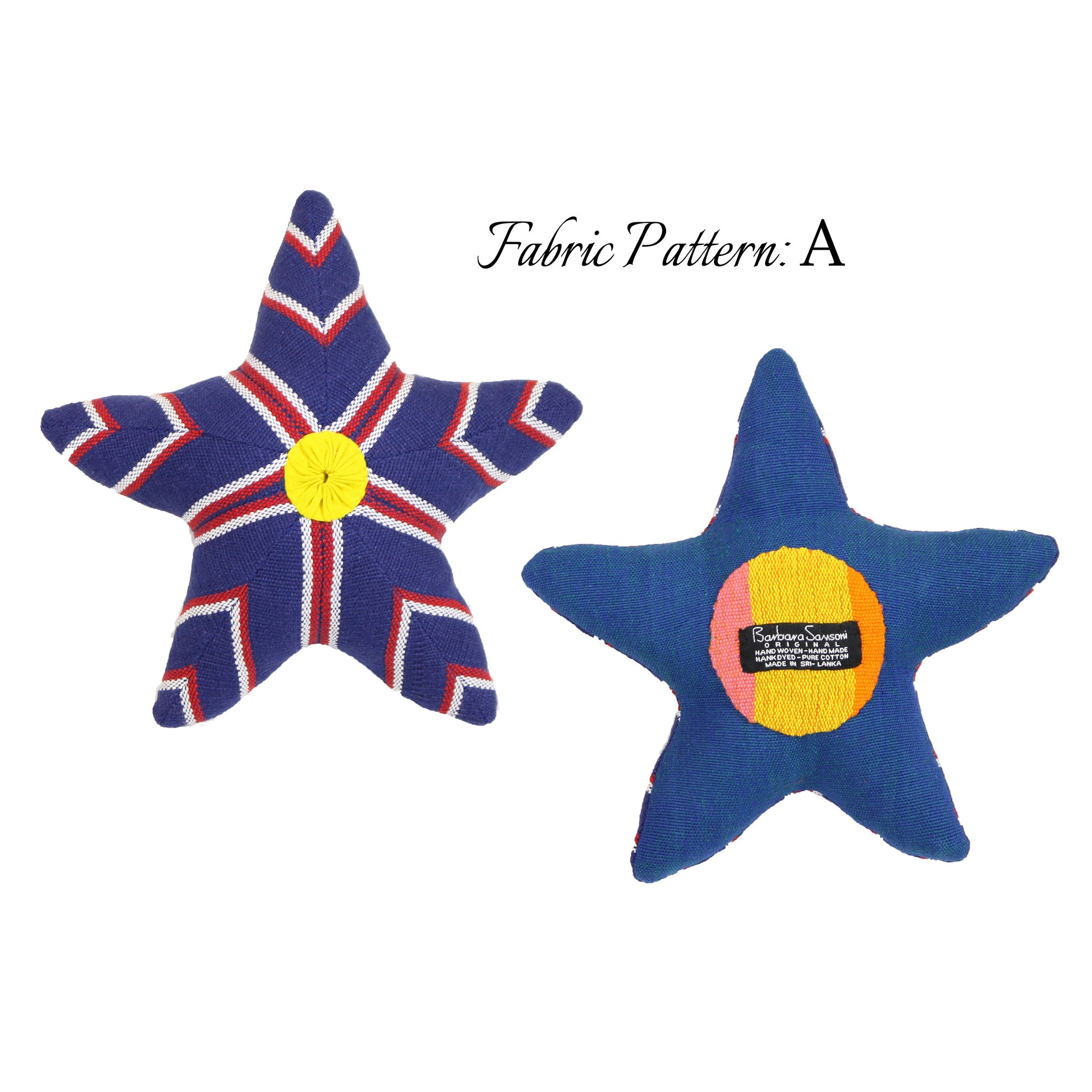Skip, the Starfish – pattern A (front & back view)