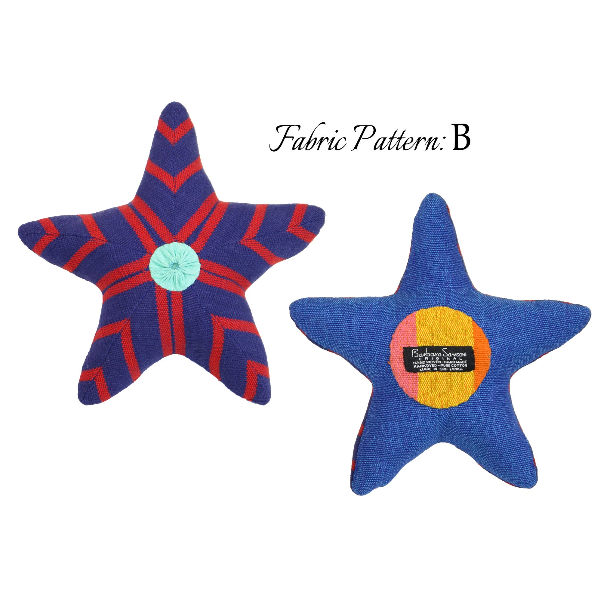 Skip, the Starfish – pattern B (front & back view)