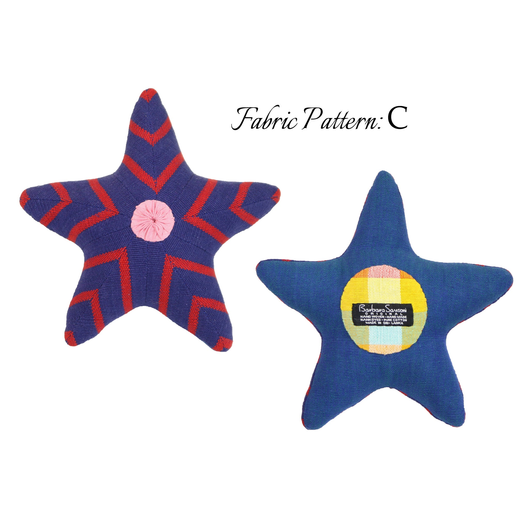 Skip, the Starfish – pattern C (front & back view)