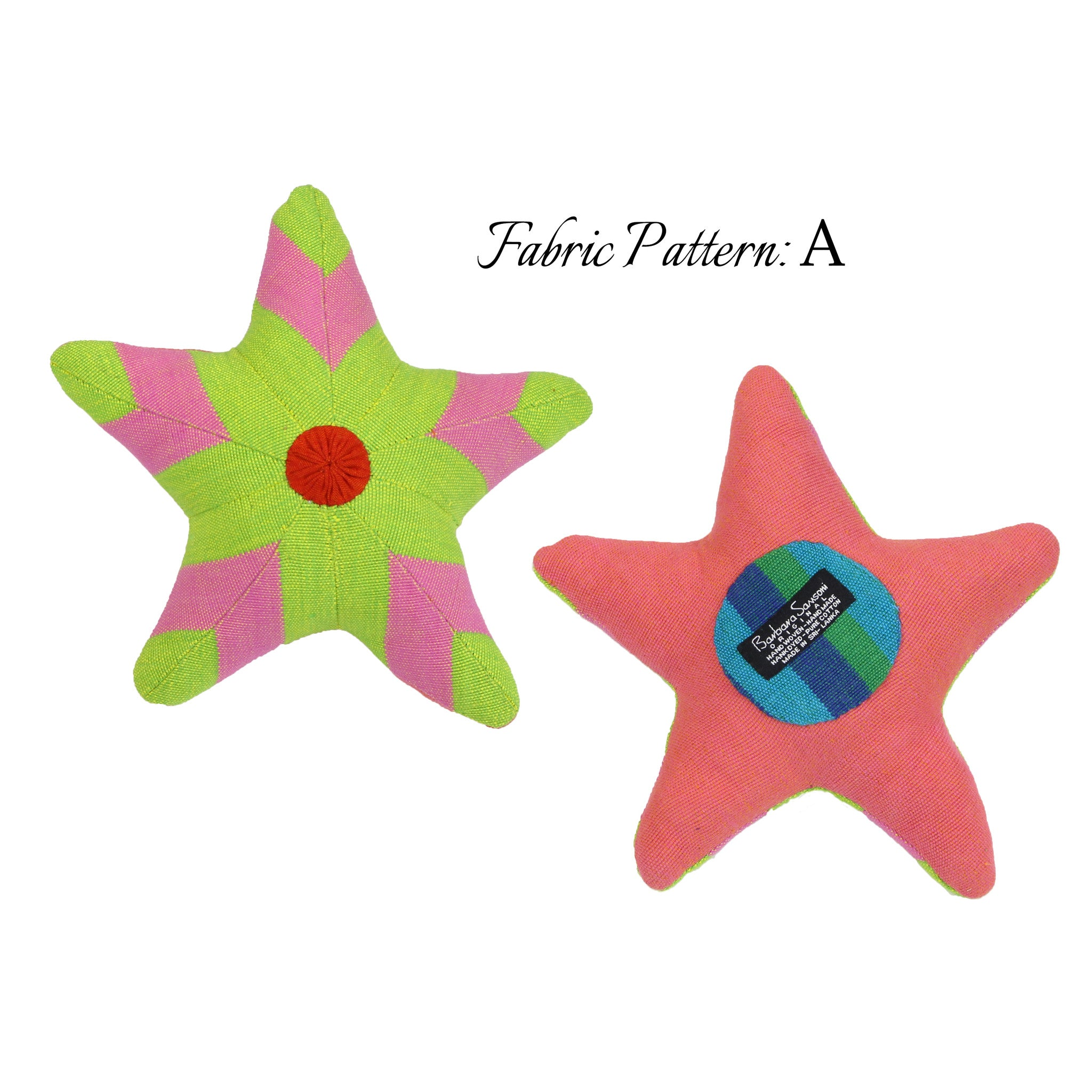 Stacey, the Starfish – pattern A (front & back view)