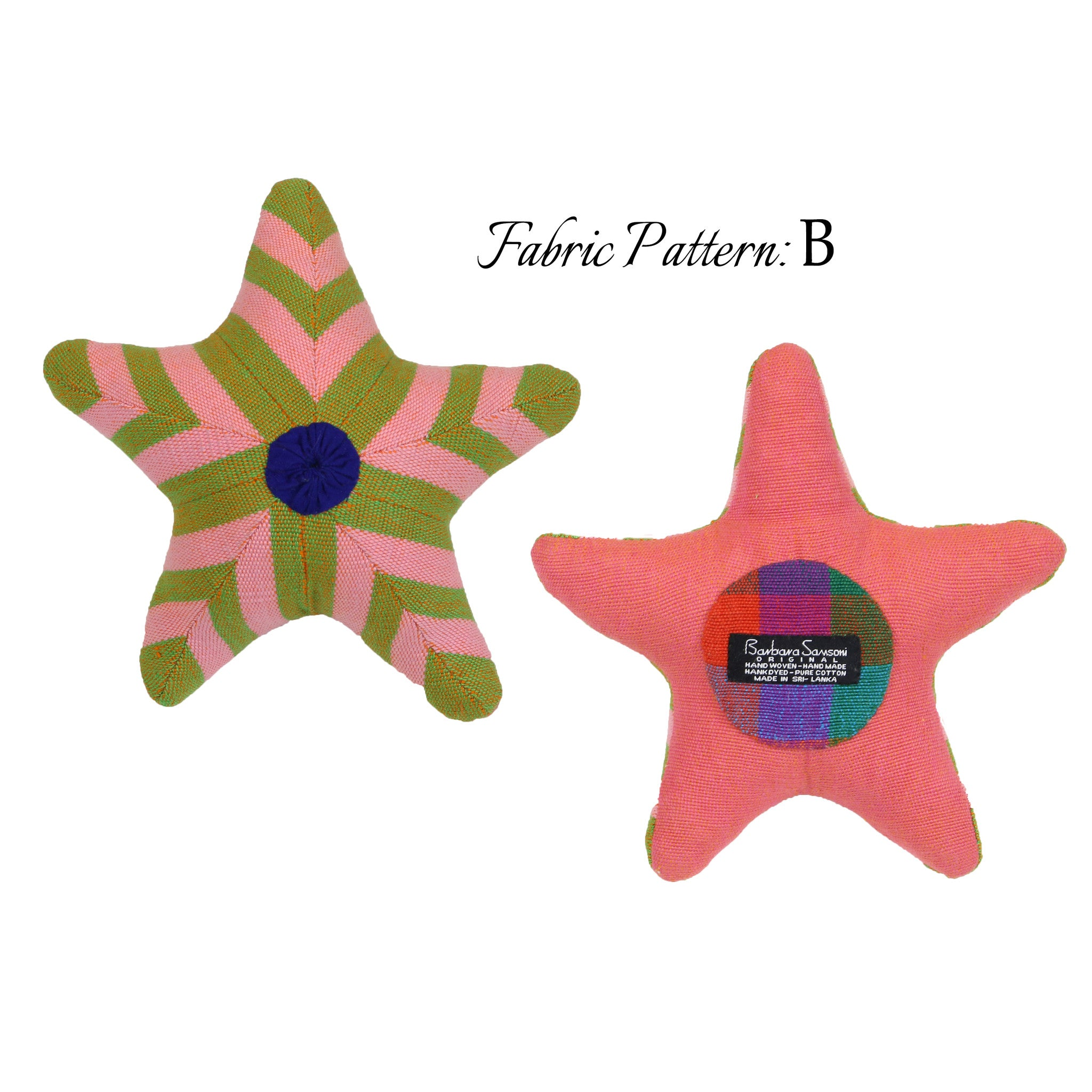 Stacey, the Starfish – pattern B (front & back view)