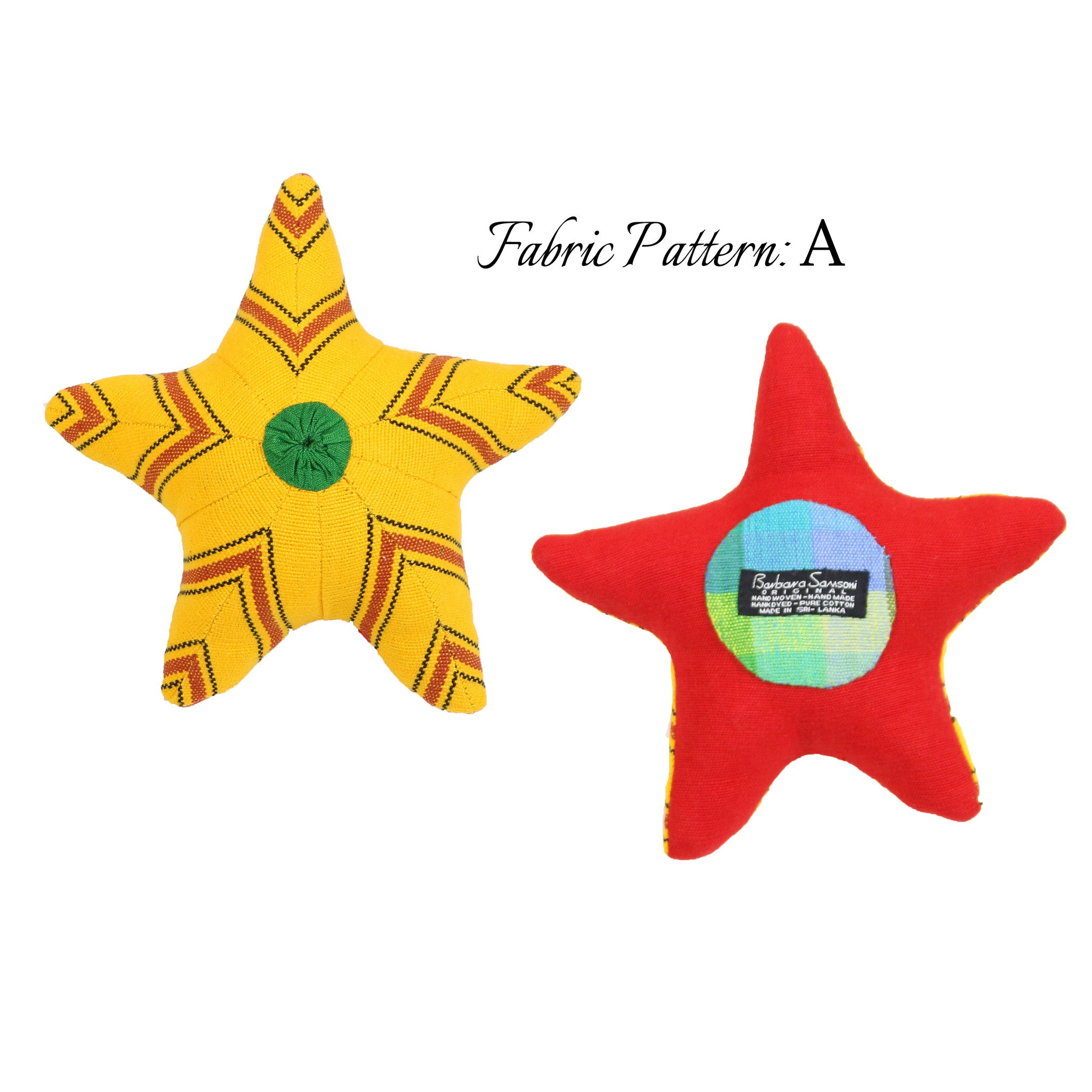 Sunny, the Starfish – pattern A (front & back view)