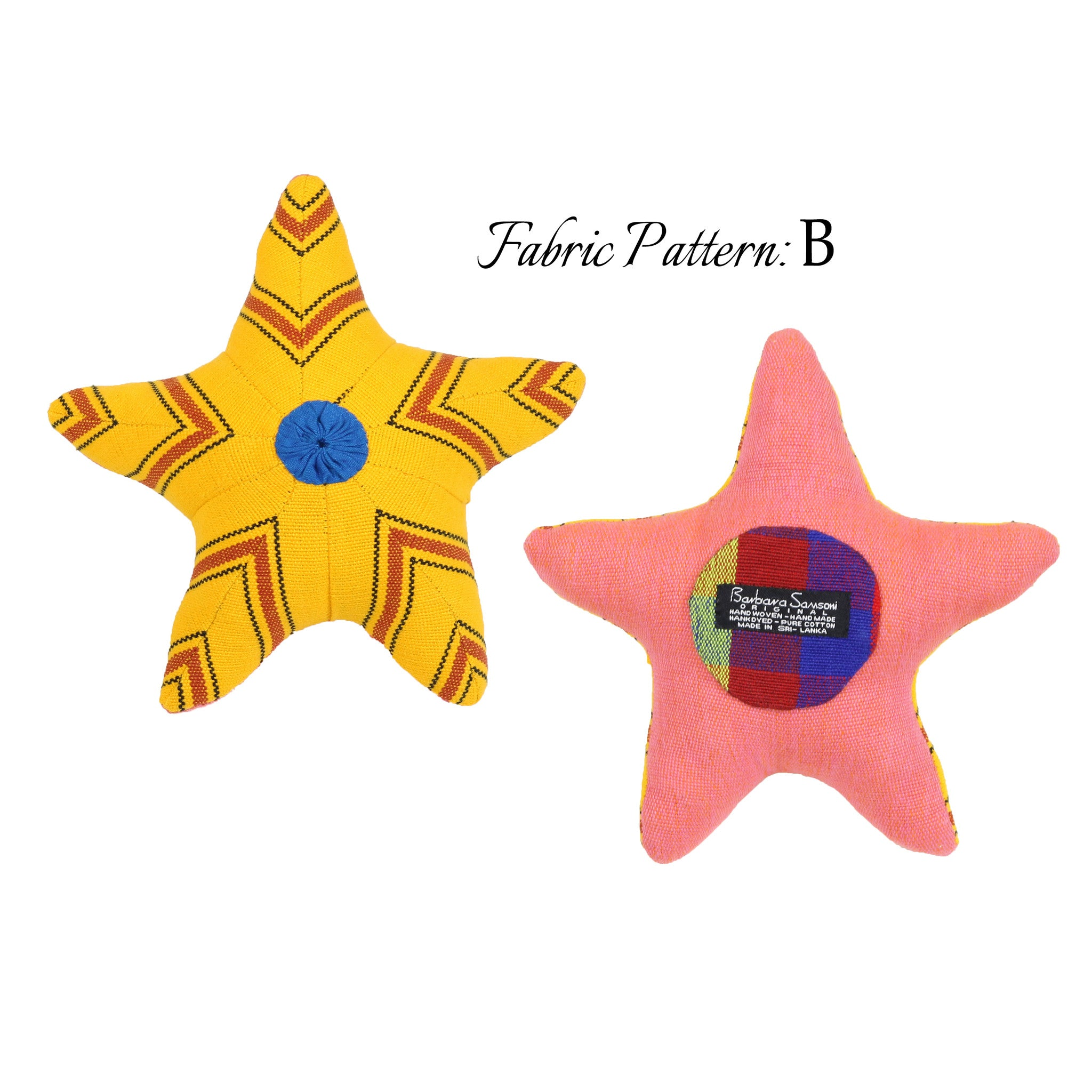 Sunny, the Starfish – pattern B (front & back view)