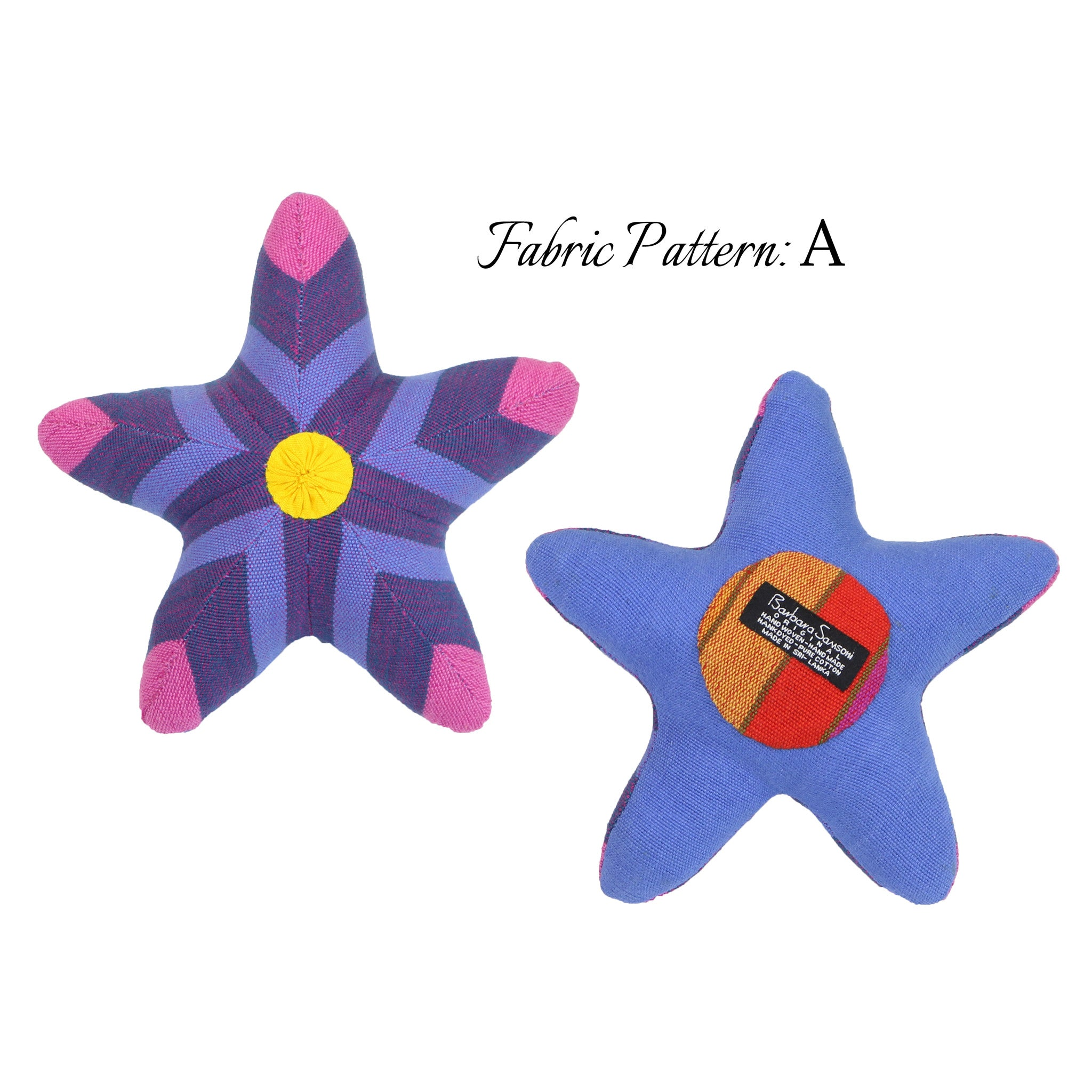 Sybil, the Starfish – pattern A (front & back view)