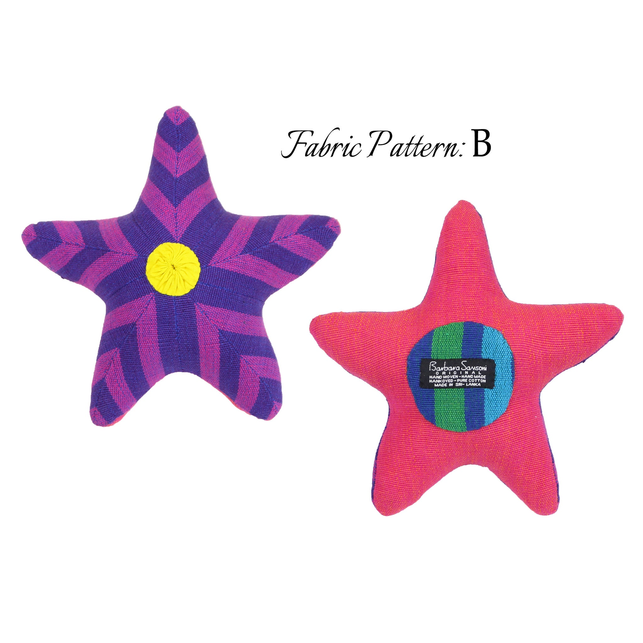 Sybil, the Starfish – pattern B (front & back view)