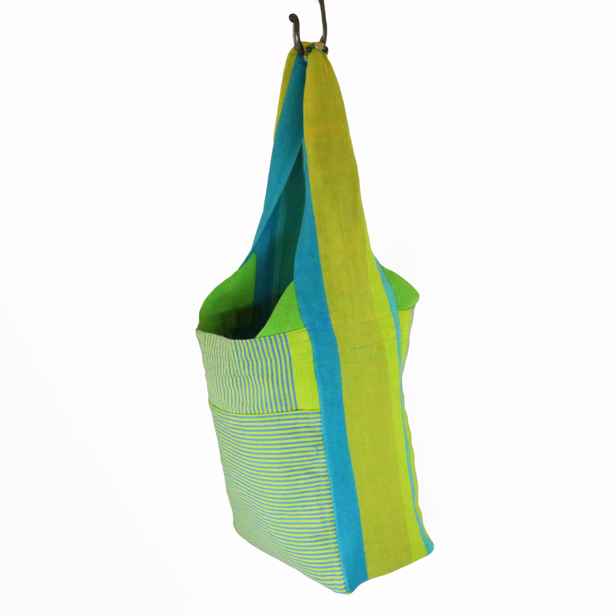 The Versatile Shoulder Bag – Lemongrass fabric shown (large size)