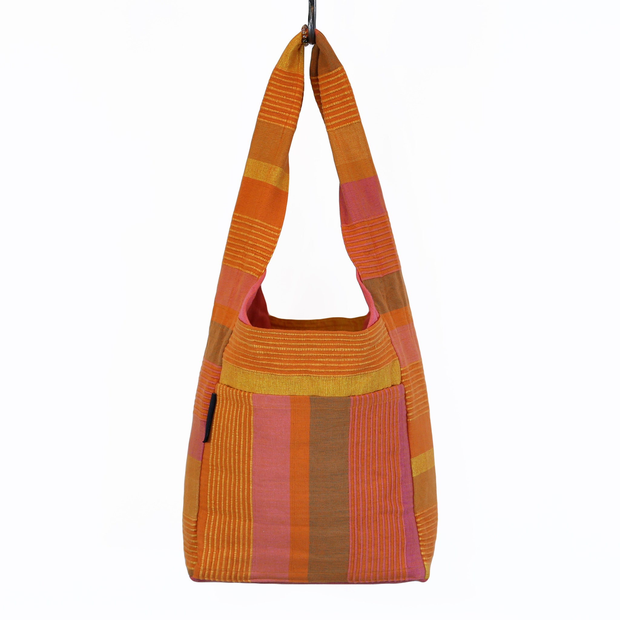 The Versatile Shoulder Bag – Sunset fabric shown (large size)