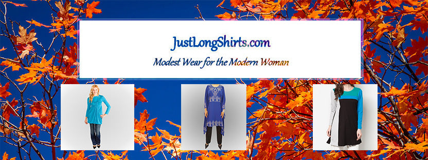 "Shopping the Fall Trends with JustLongShirts.com ""Get the Blues"""