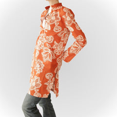 Orange Printed Tunic