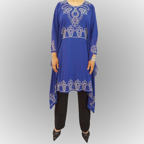 Royal Blue Kaftan