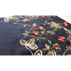 Floral Bouquet Scarf - Navy Blue