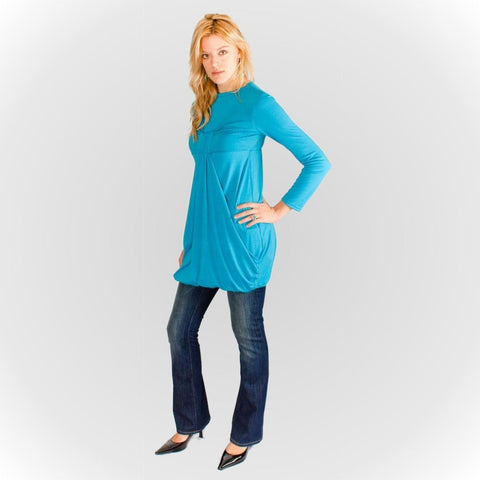 Knot Front Tee - Turquoise